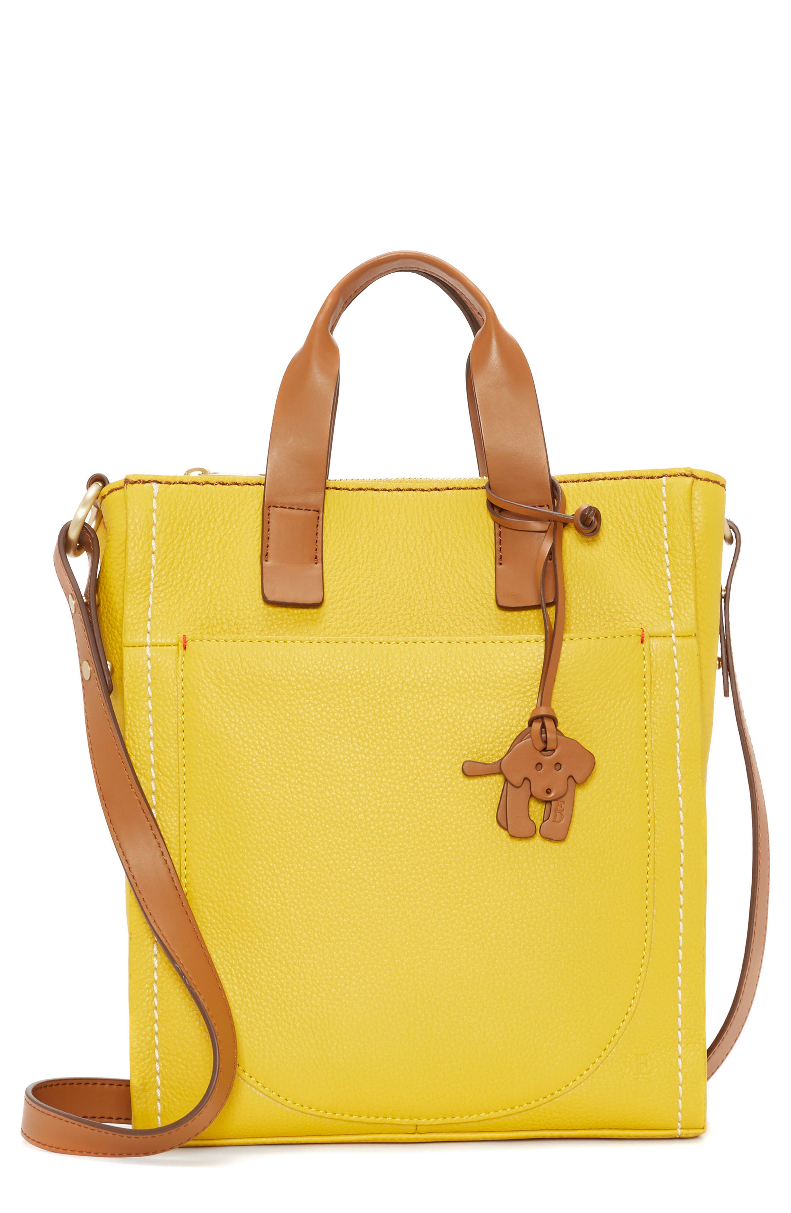 ED ELLEN DEGENERES Small Baja Leather Tote, Main, color, 701
