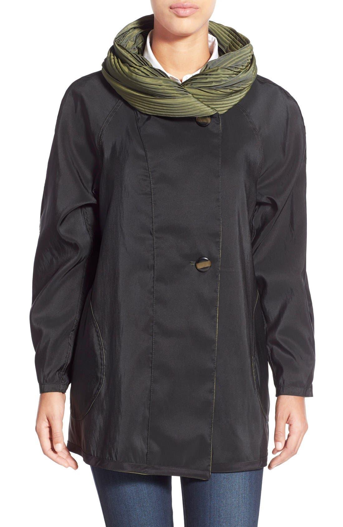 'Mini Donatella' Reversible Pleat Hood Packable Travel Coat,                             Alternate thumbnail 20, color,