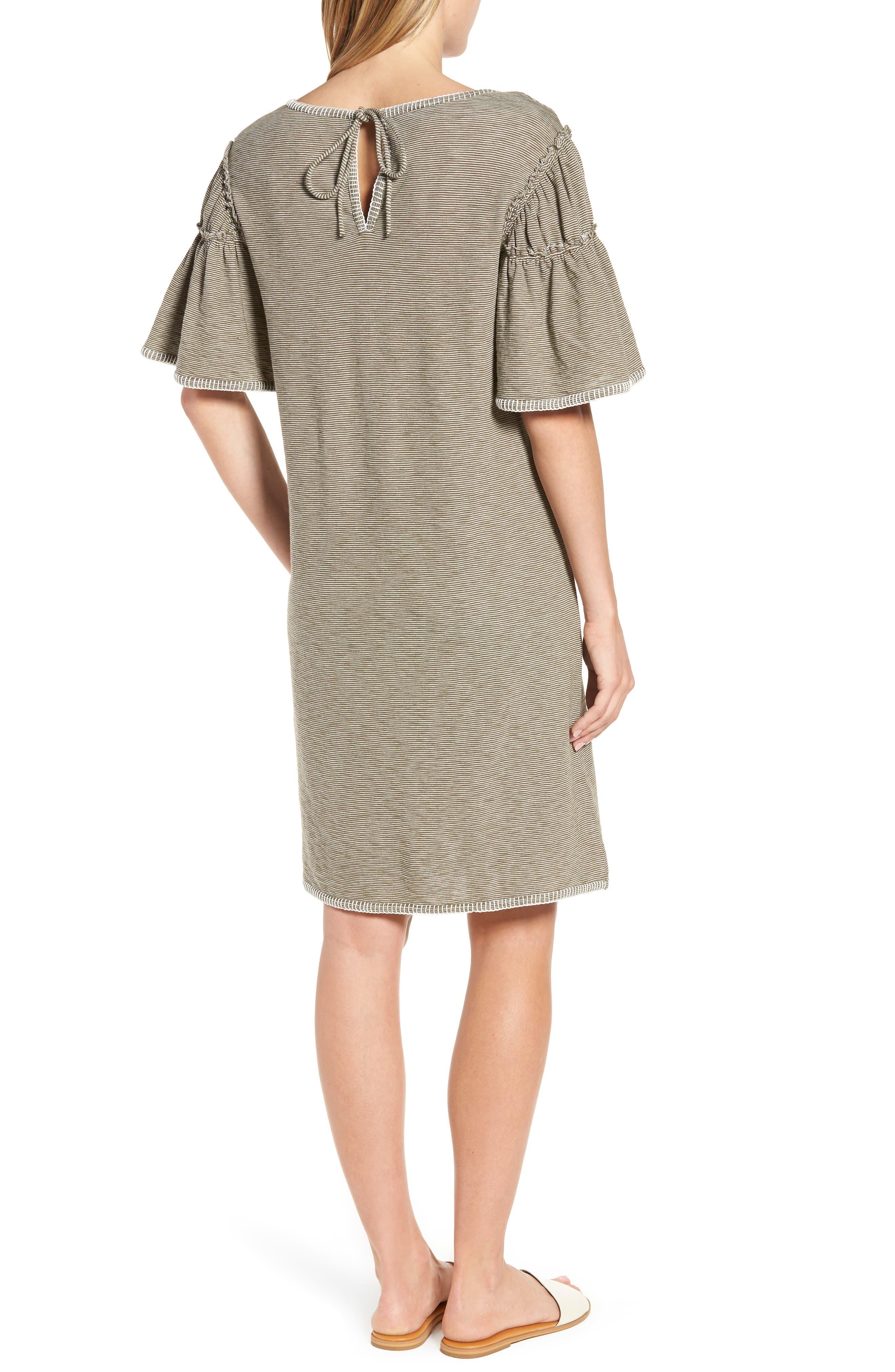 Flounce Sleeve Knit Dress,                             Alternate thumbnail 4, color,
