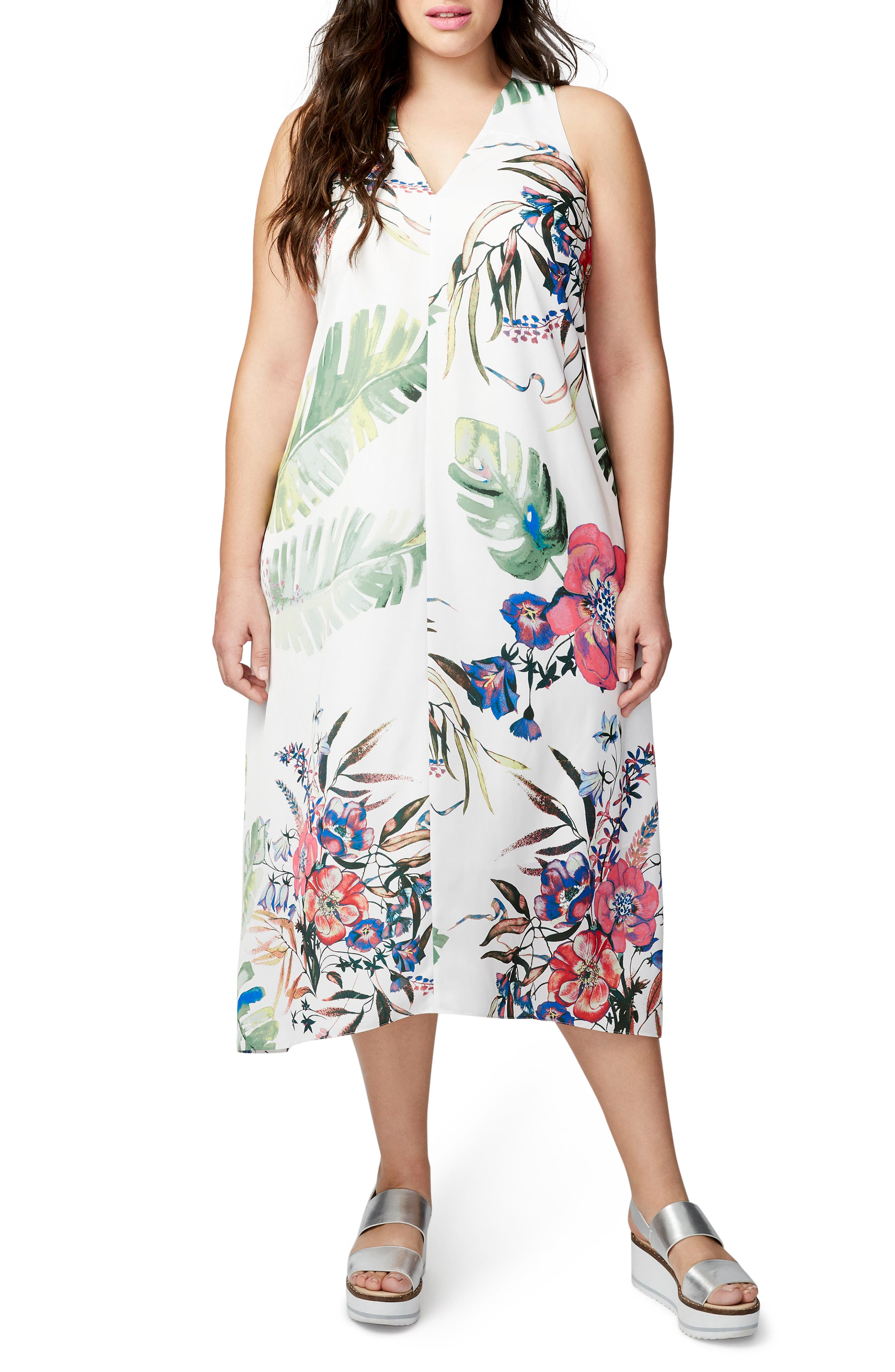 Print Maxi Dress,                             Main thumbnail 1, color,                             100