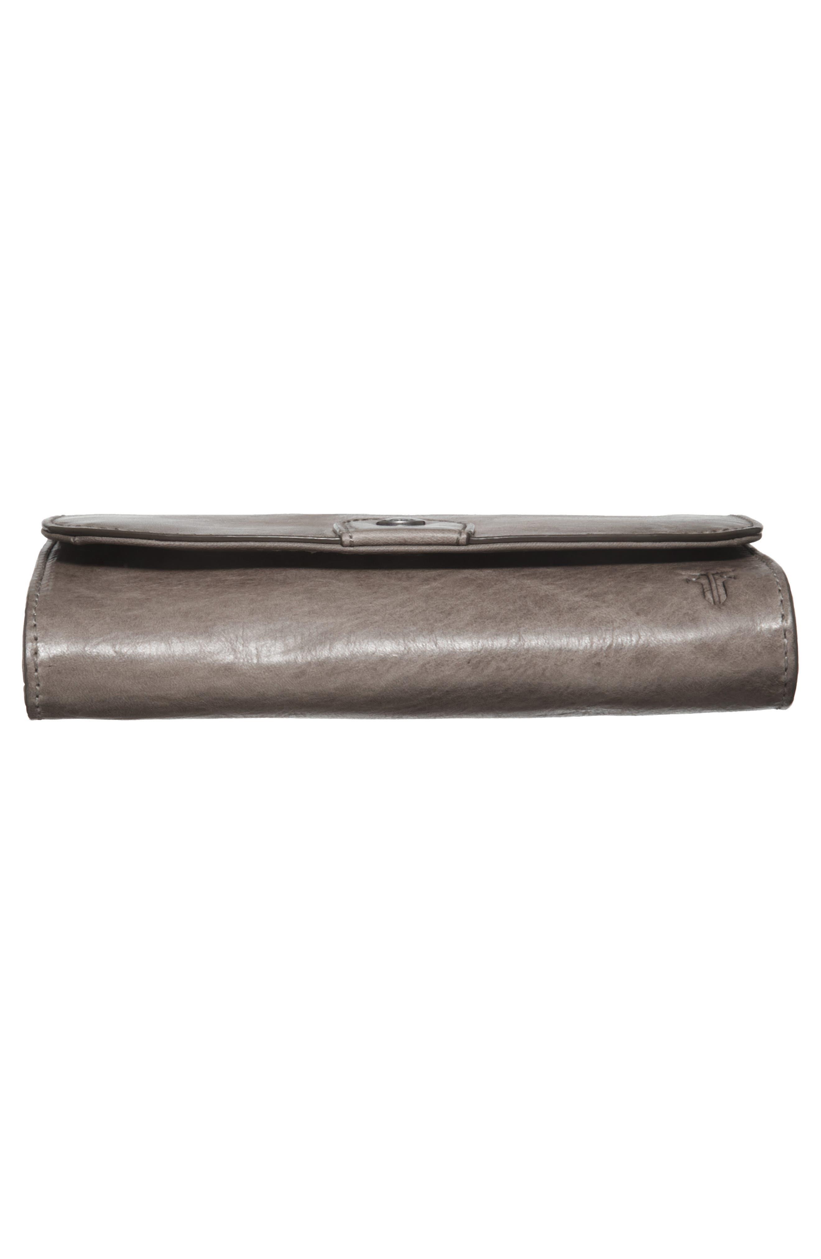 Melissa Leather Crossbody Bag,                             Alternate thumbnail 6, color,                             ICE