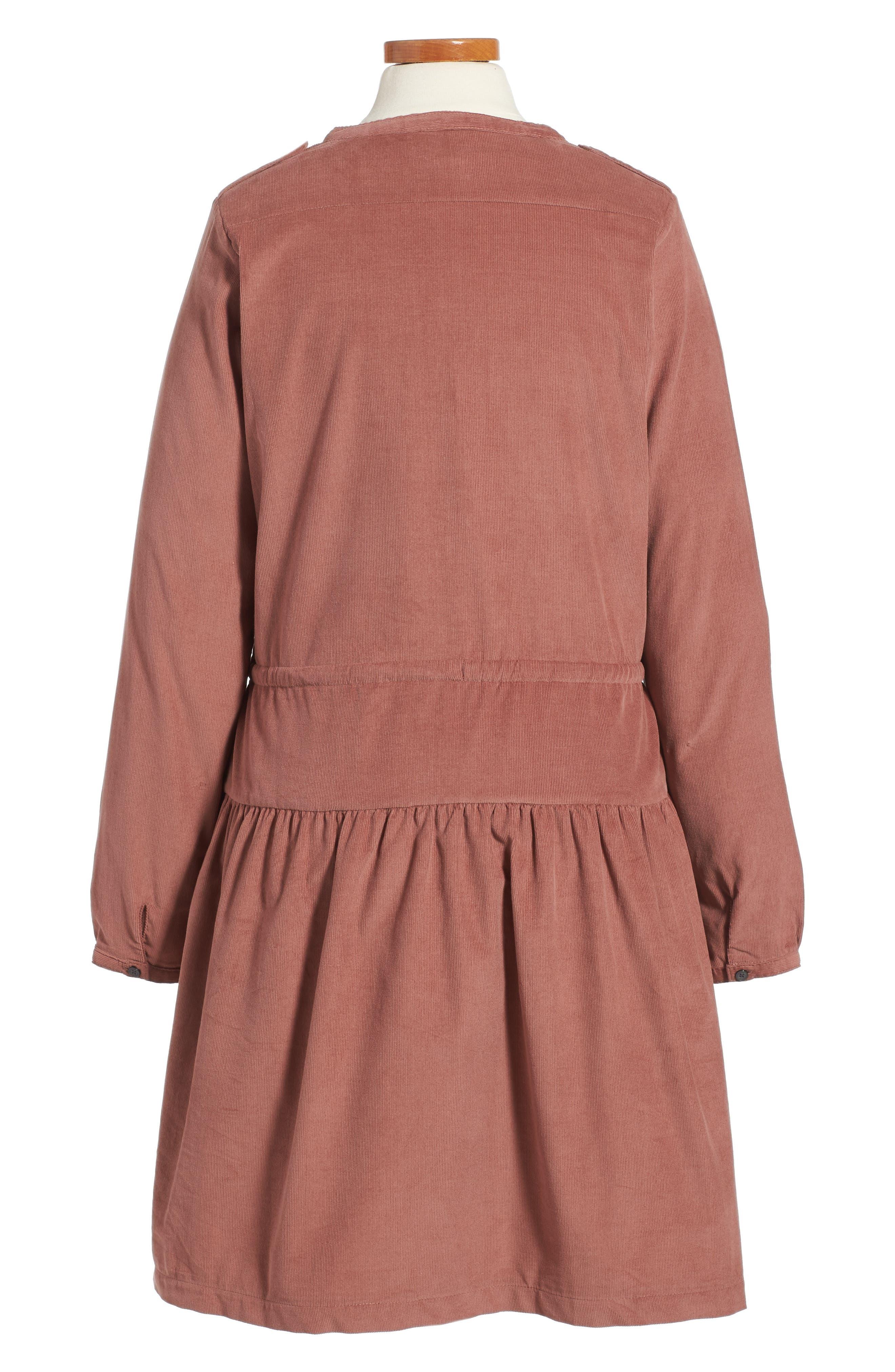 BURBERRY,                             Celestine Corduroy Dress,                             Alternate thumbnail 2, color,                             930