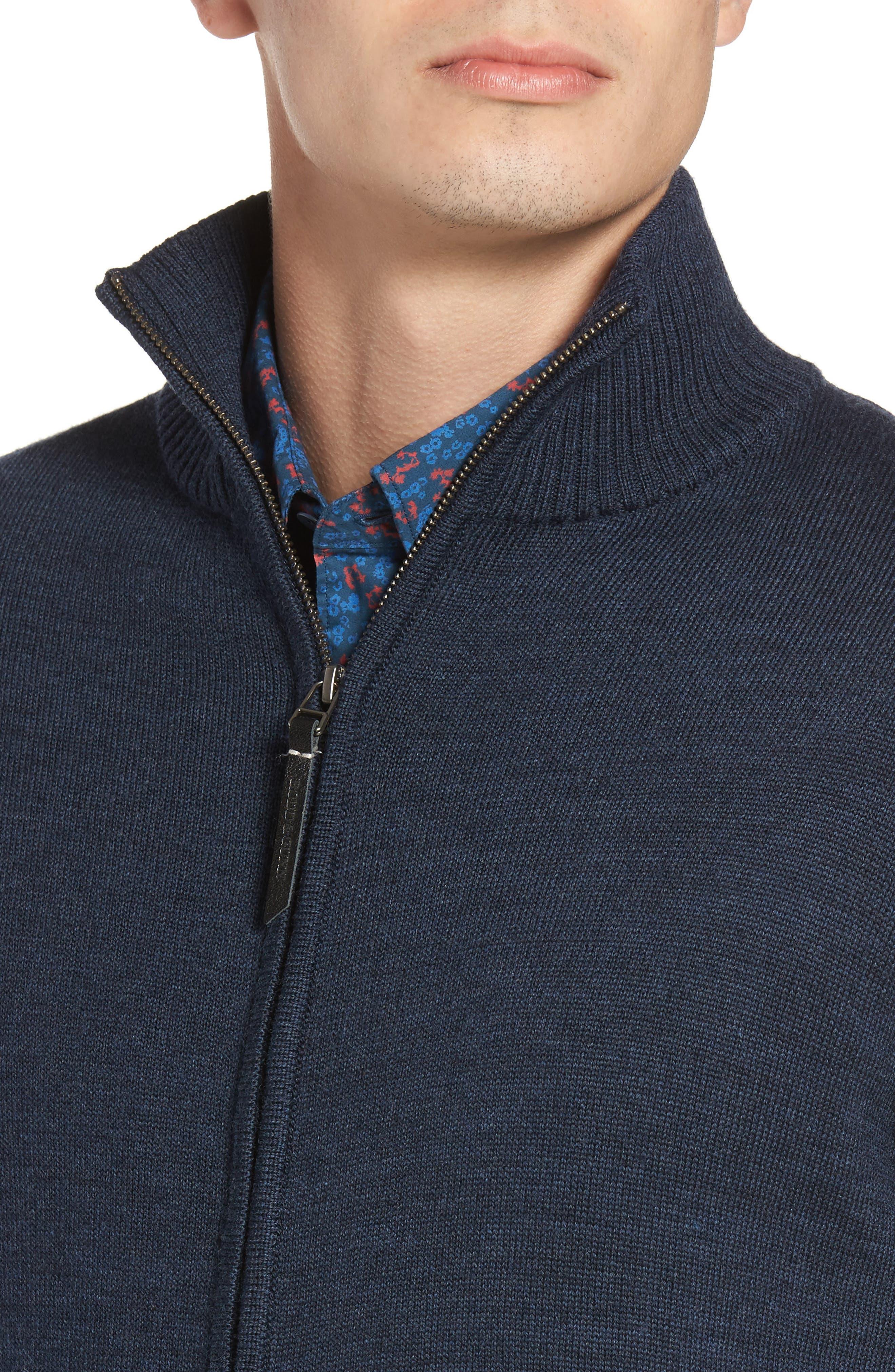 Roaring Meg Zip Wool Sweater,                             Alternate thumbnail 4, color,                             401
