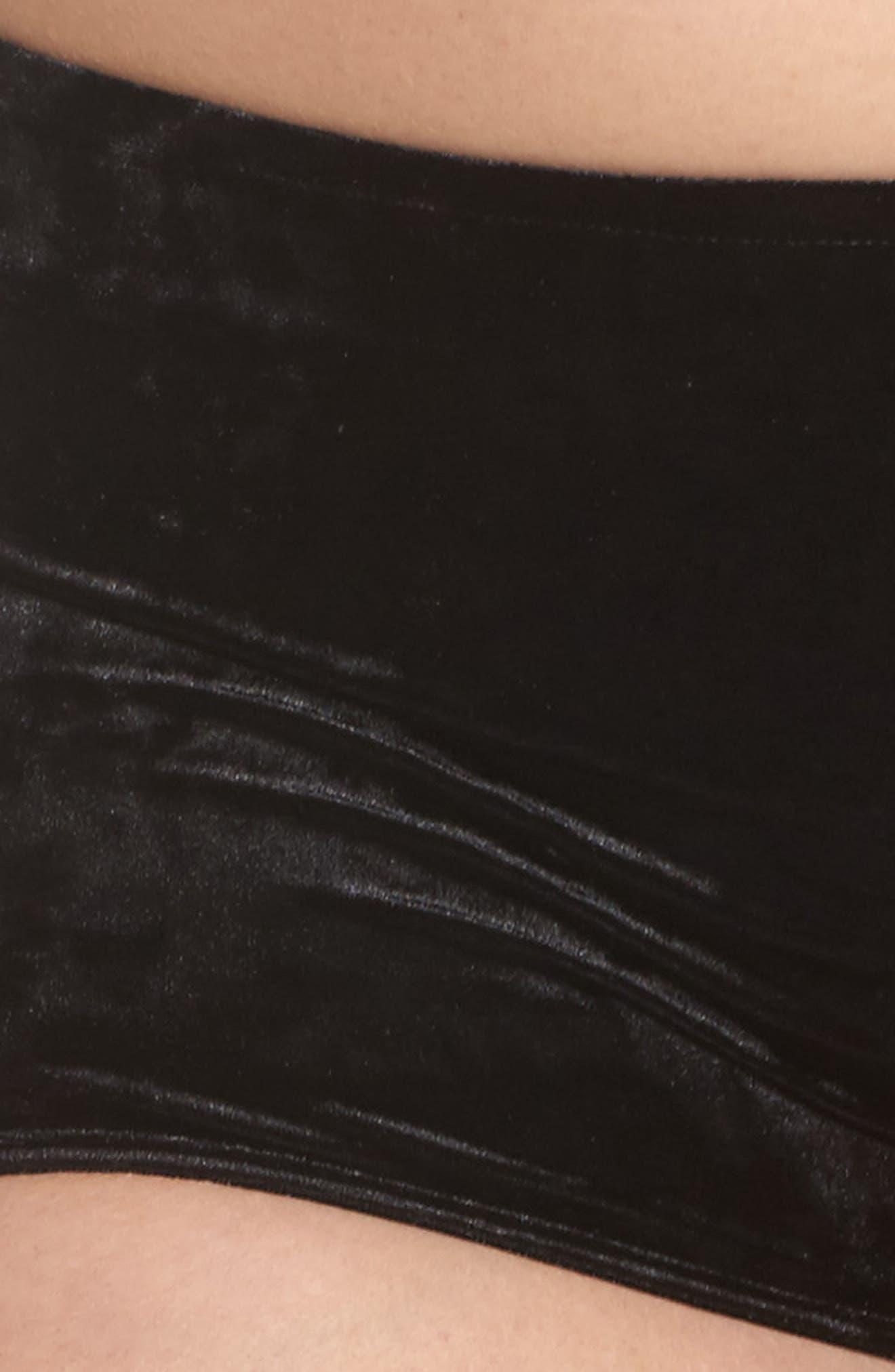 Velvet Hipster Briefs,                             Alternate thumbnail 4, color,                             001