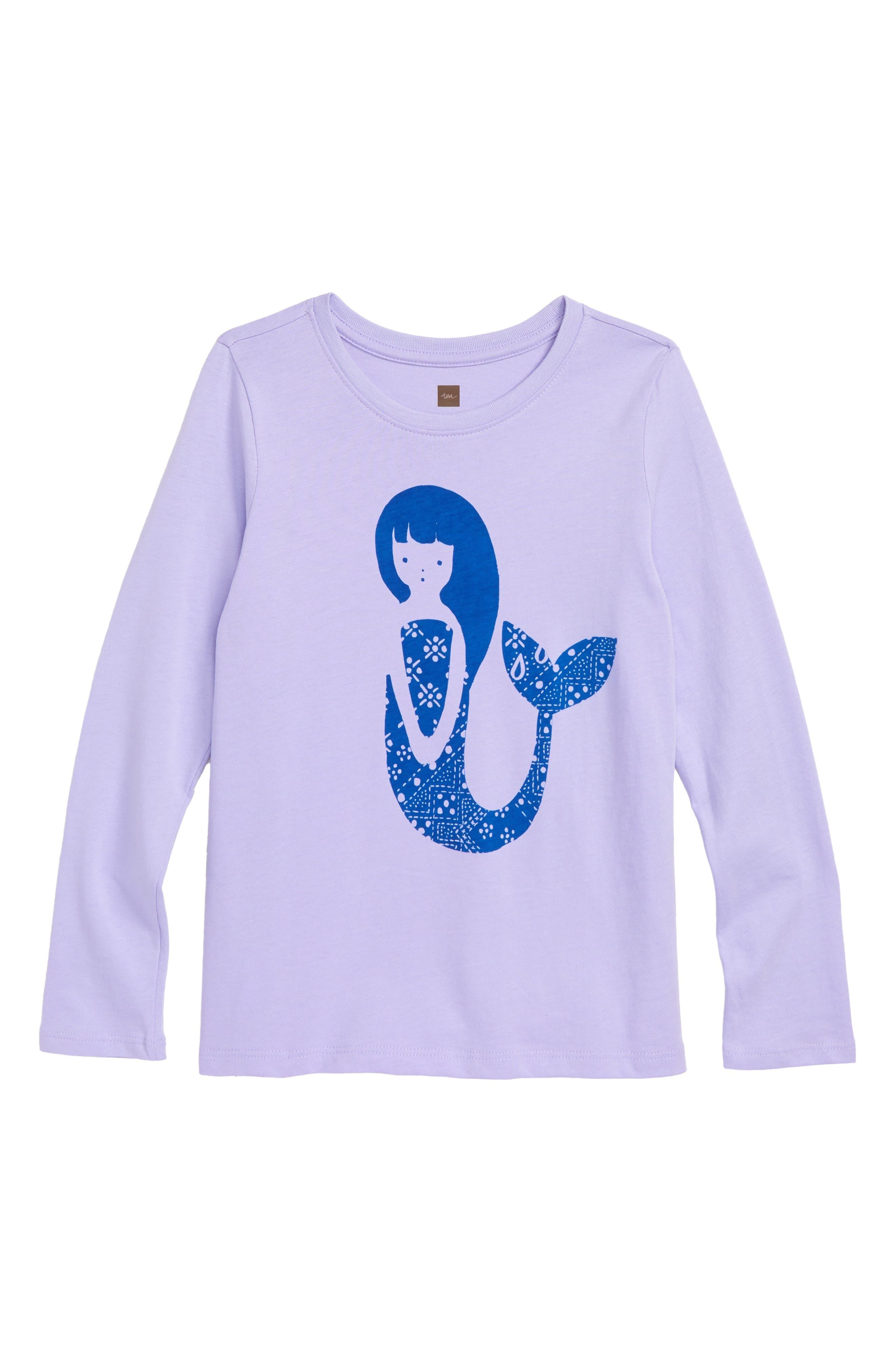 Mermaid Graphic Tee,                         Main,                         color, LILAC MIST