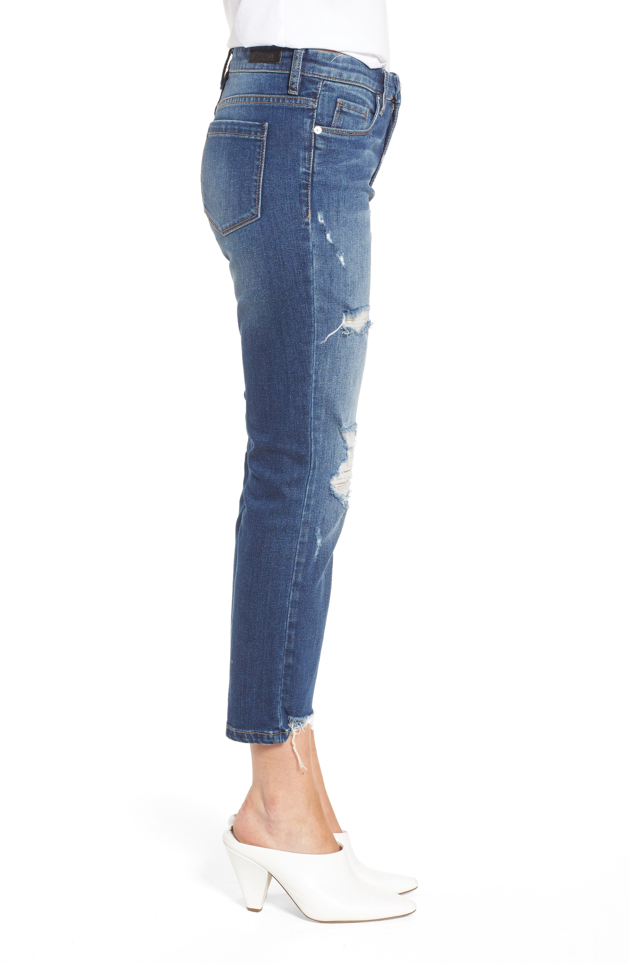Your Favorite Distressed Straight Jeans,                             Alternate thumbnail 3, color,                             400