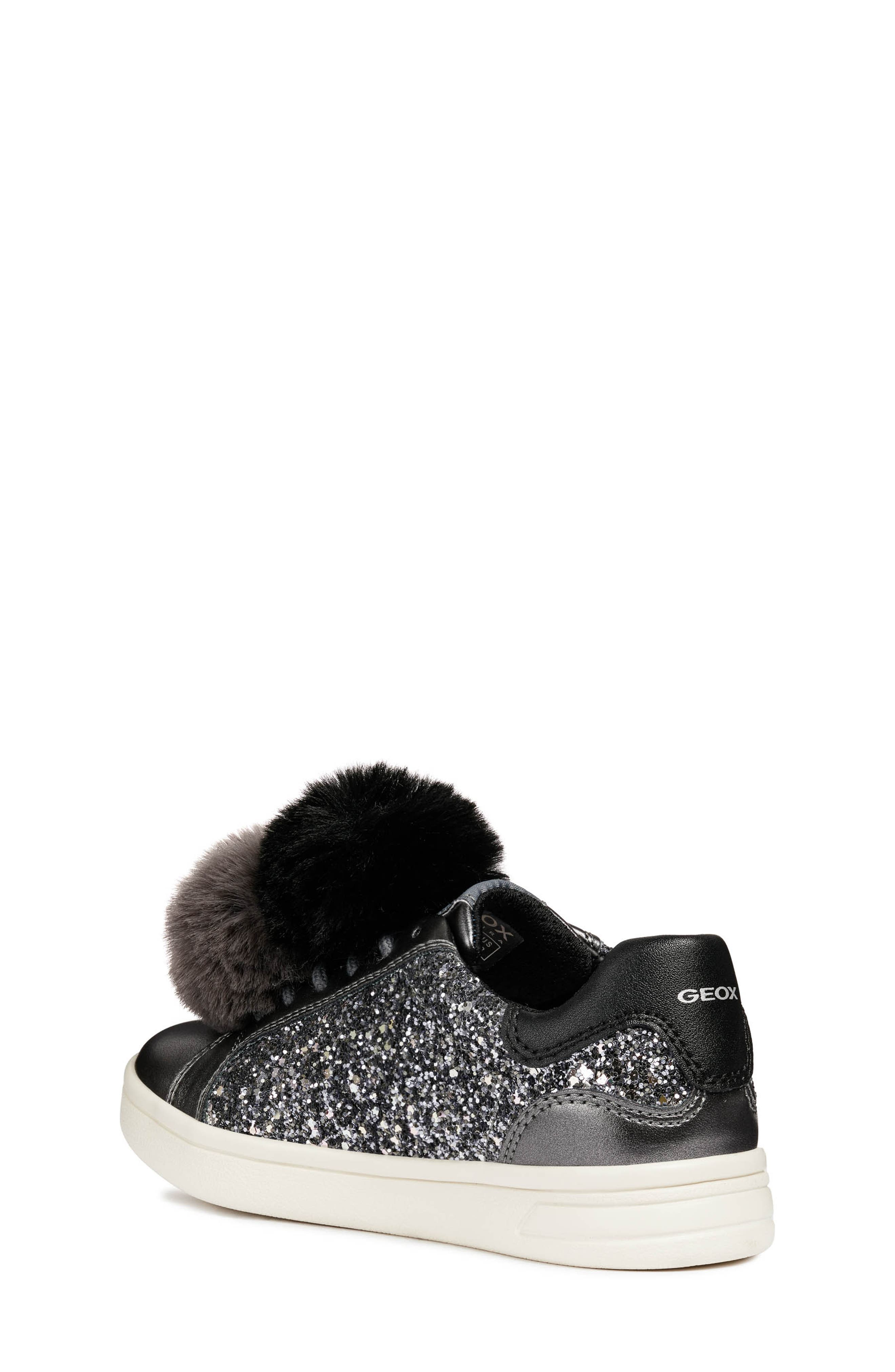 DJ Rock Glitter Pompom Sneaker,                             Alternate thumbnail 2, color,                             DARK GREY