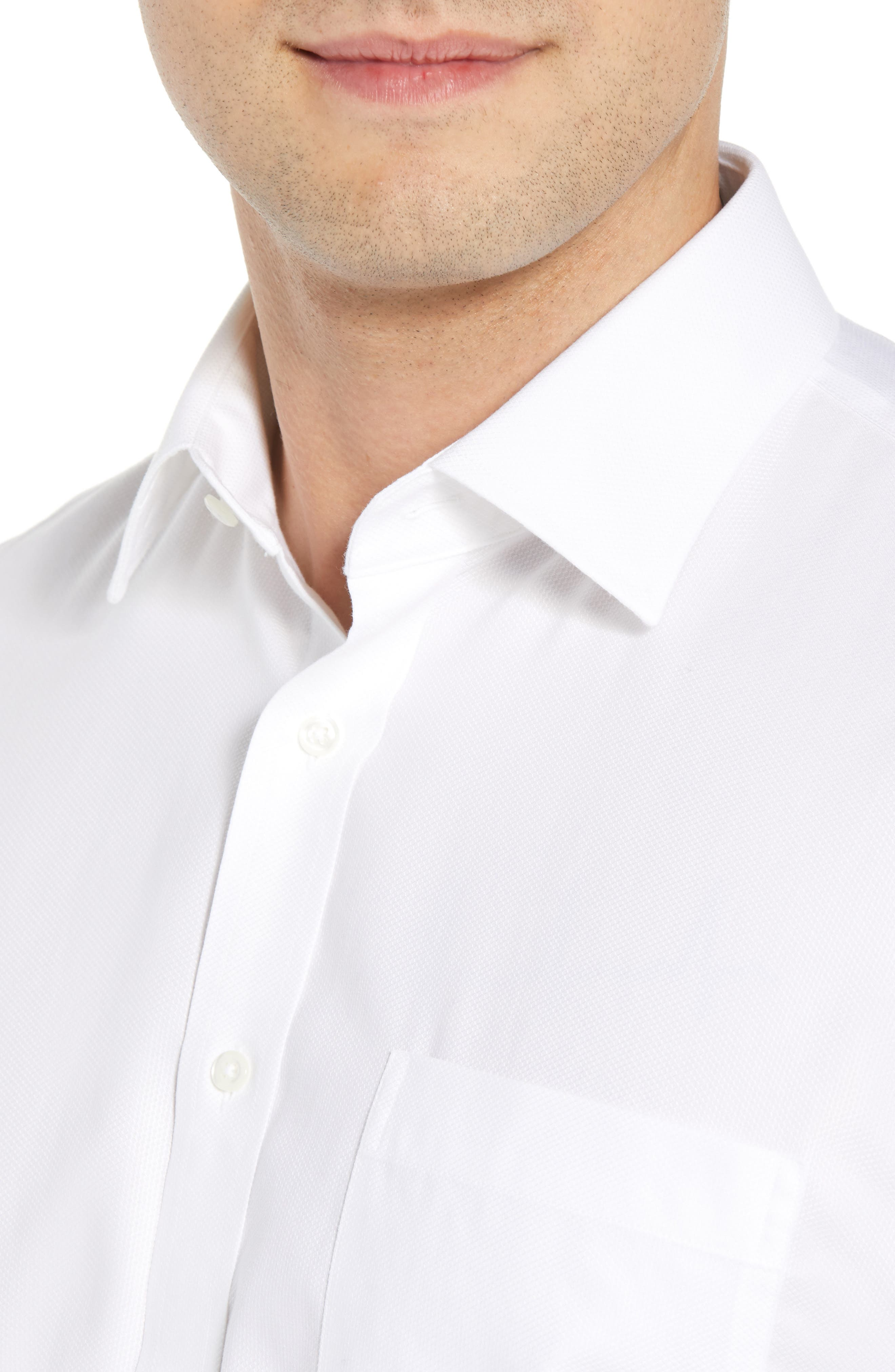Smartcare<sup>™</sup> Traditional Fit Solid Dress Shirt,                             Alternate thumbnail 3, color,