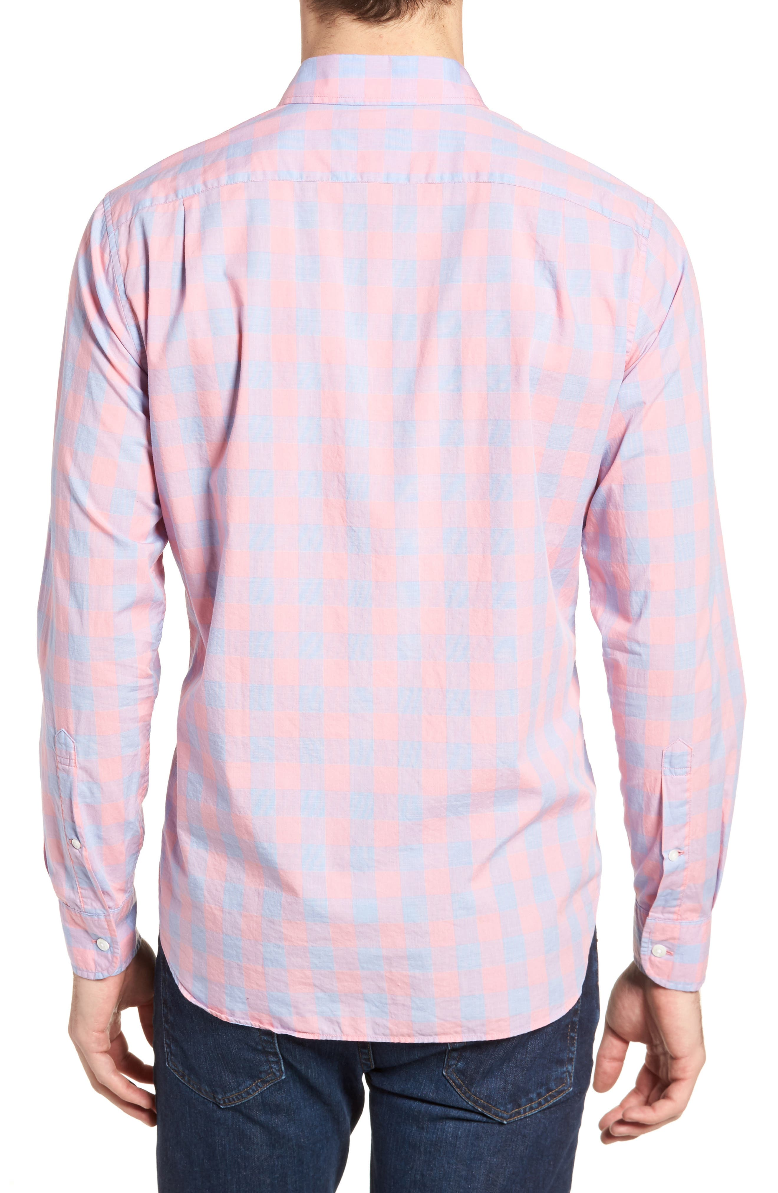 Summerweight Slim Fit Gingham Sport Shirt,                             Alternate thumbnail 2, color,                             650