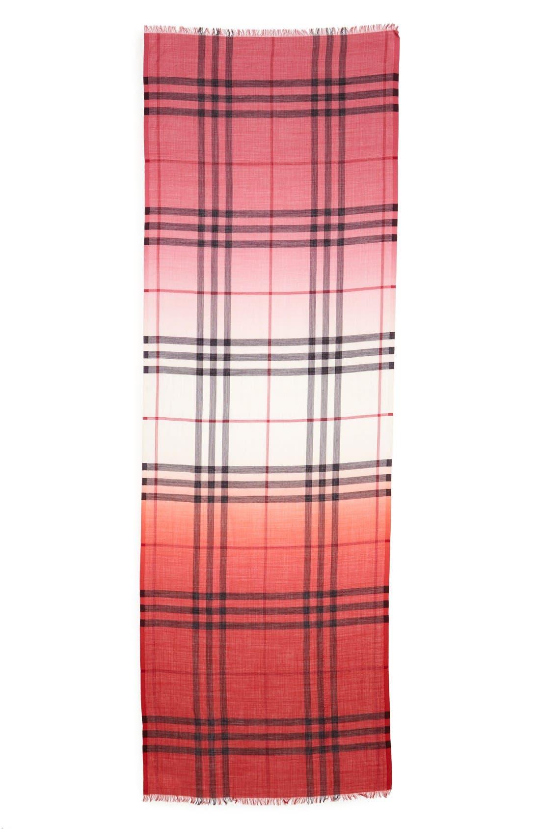 Ombré Check Wool & Silk Scarf,                             Alternate thumbnail 11, color,