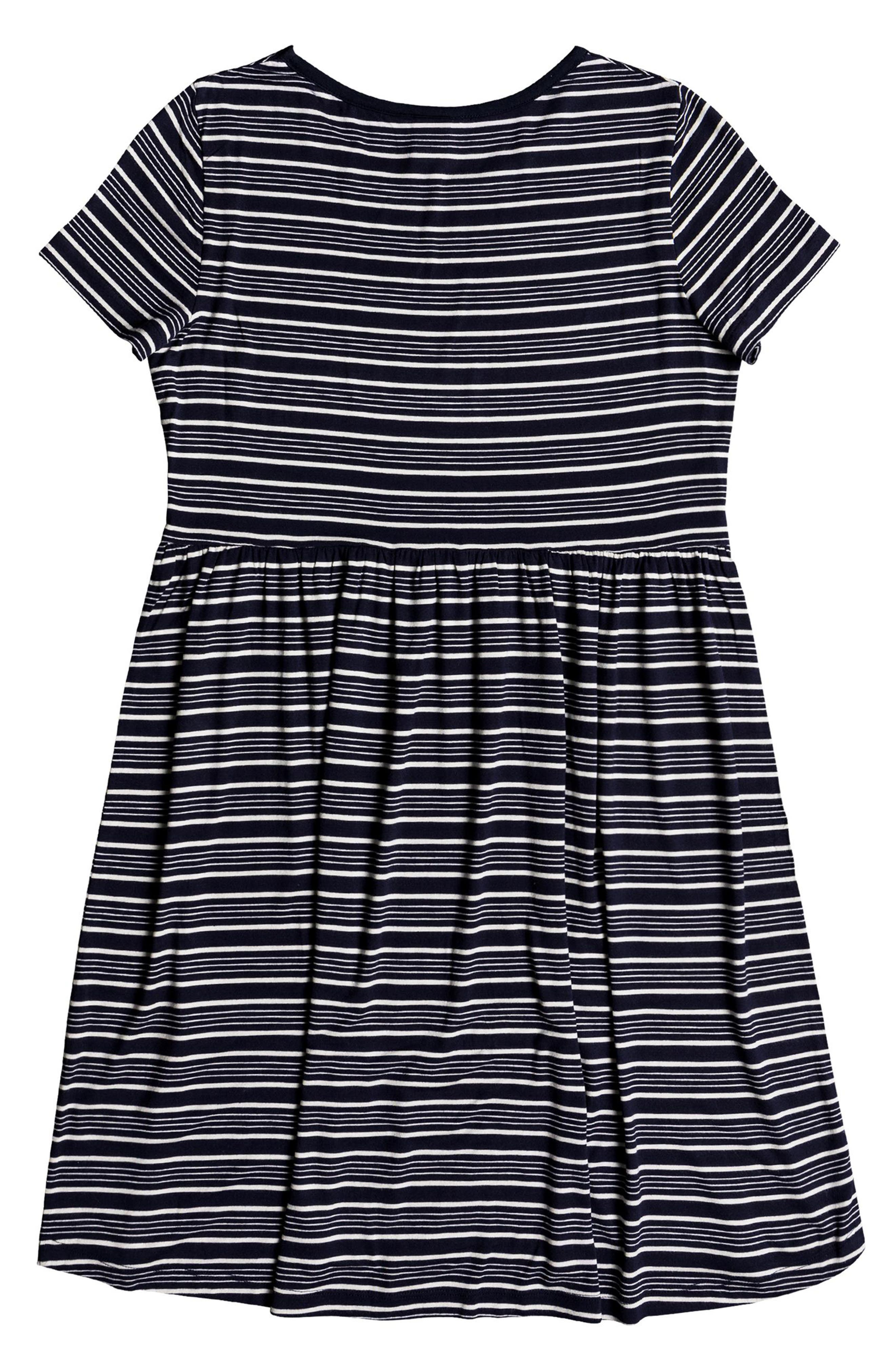 Fame For Glory Stripe T-Shirt Dress,                             Alternate thumbnail 4, color,                             400