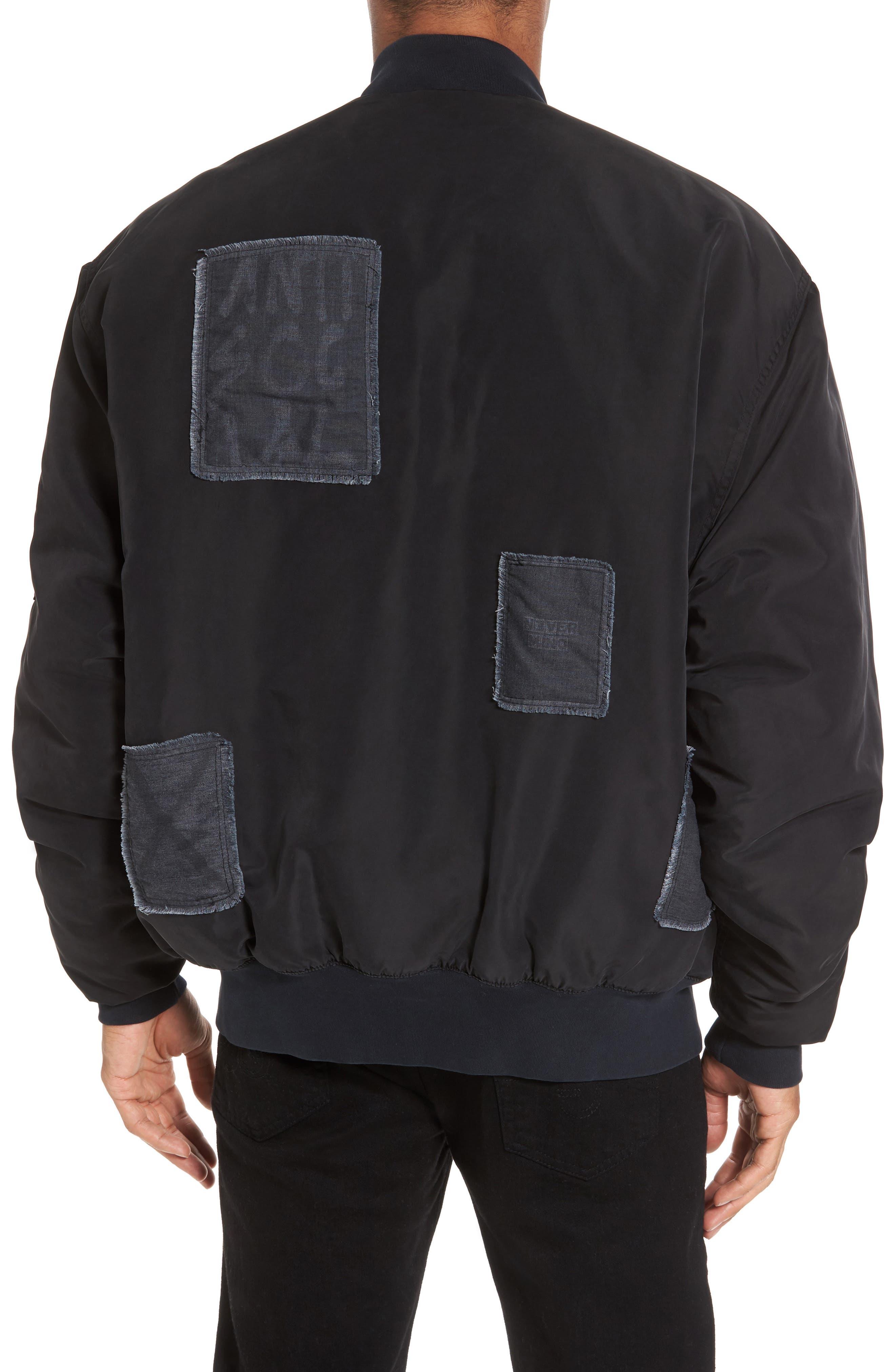 Echo Oversize Bomber Jacket,                             Alternate thumbnail 2, color,                             001