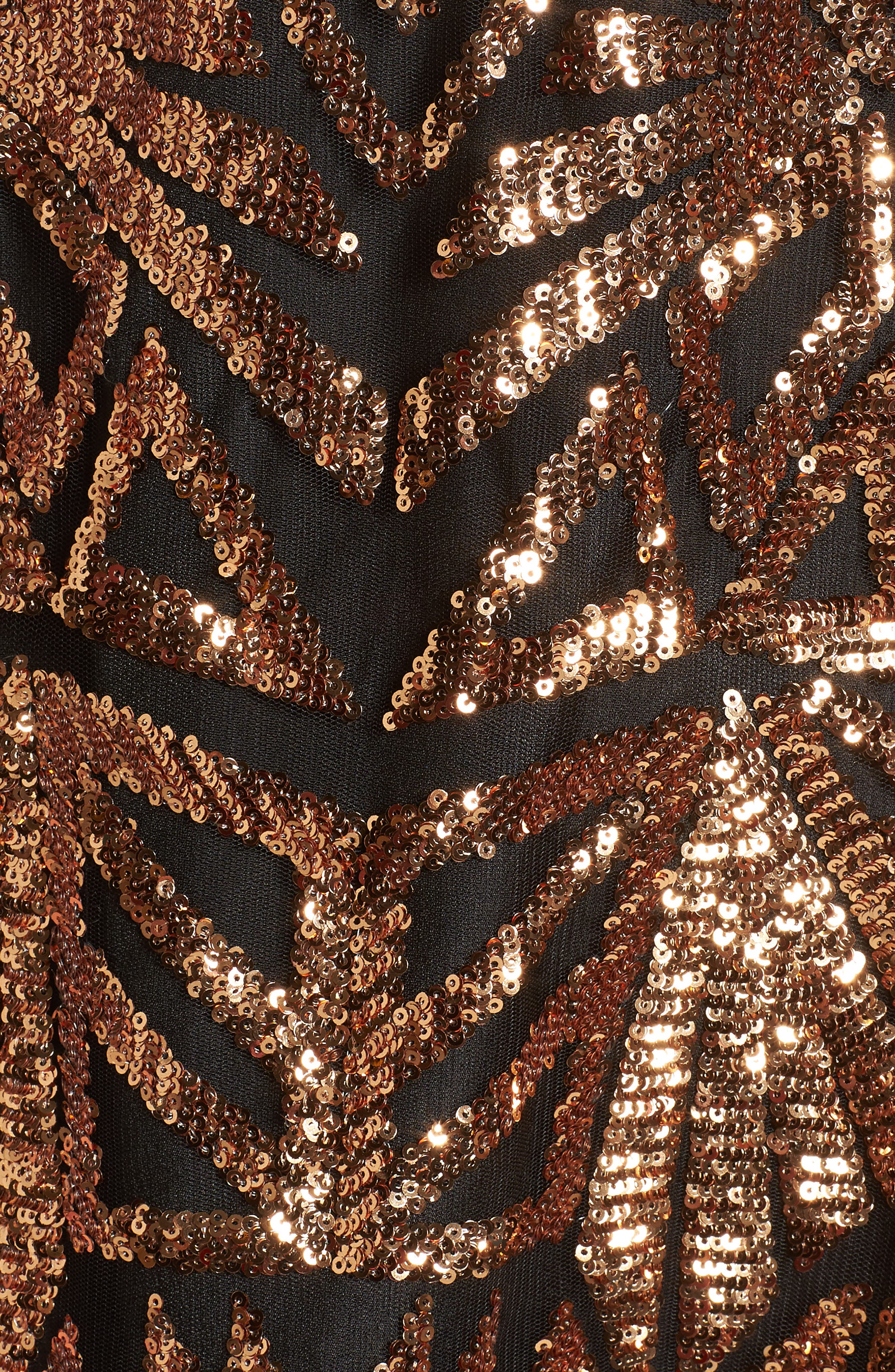 Sequined High Neck Dress,                             Alternate thumbnail 5, color,                             710