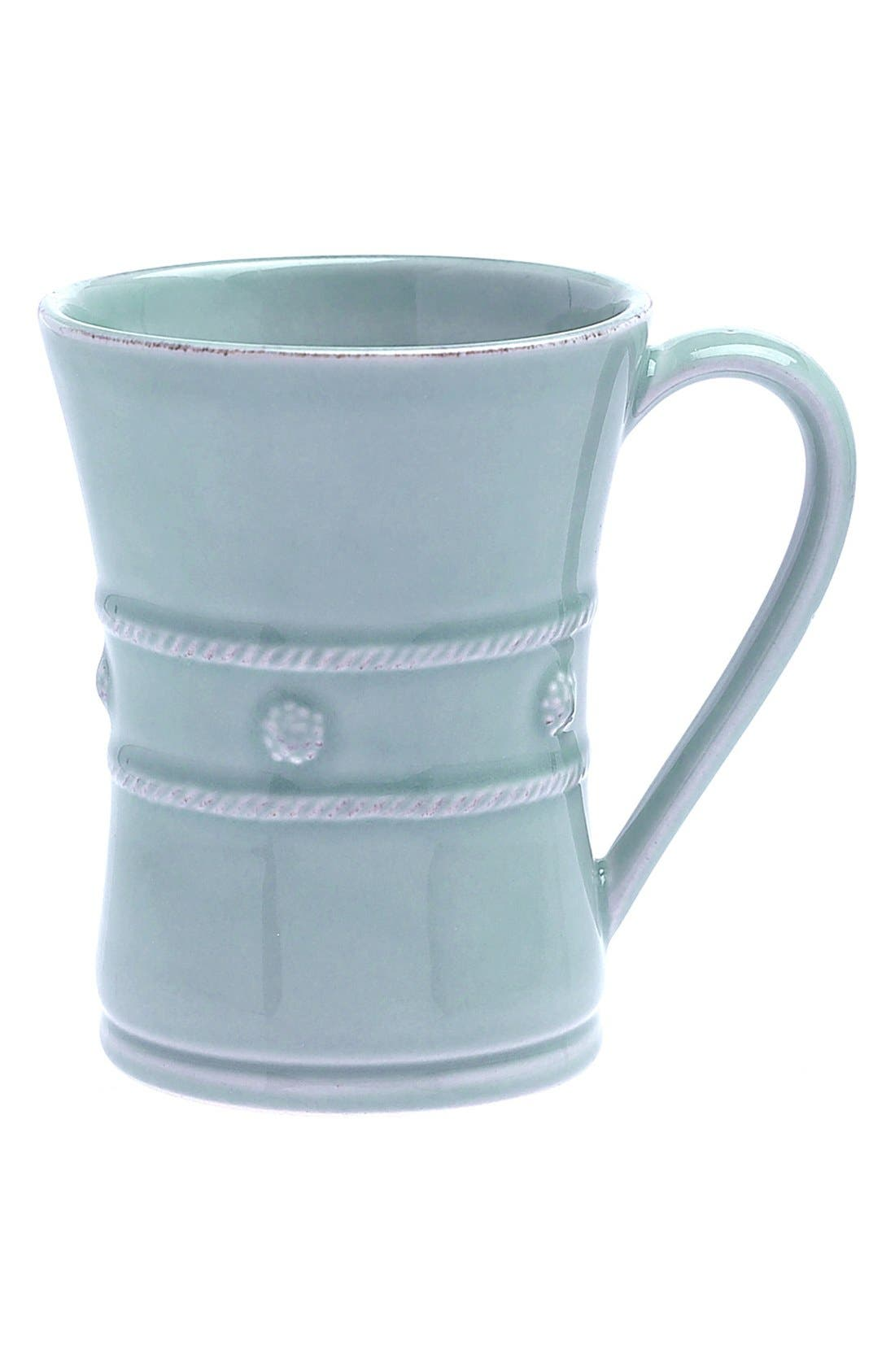 'Berry and Thread' Ceramic Coffee Mug,                             Main thumbnail 1, color,                             ICE BLUE