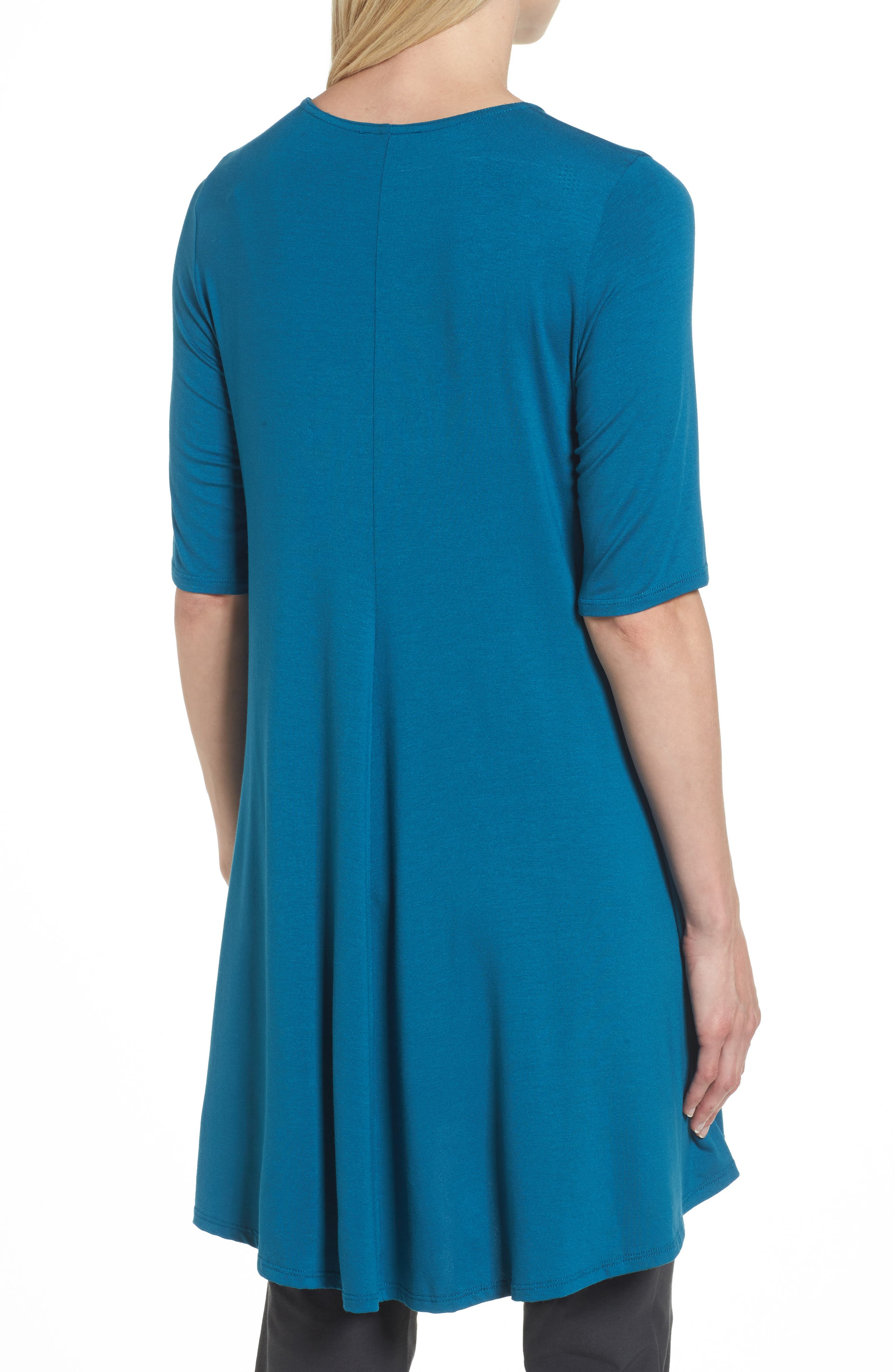 Lightweight Jersey Round Neck Tunic,                             Alternate thumbnail 10, color,