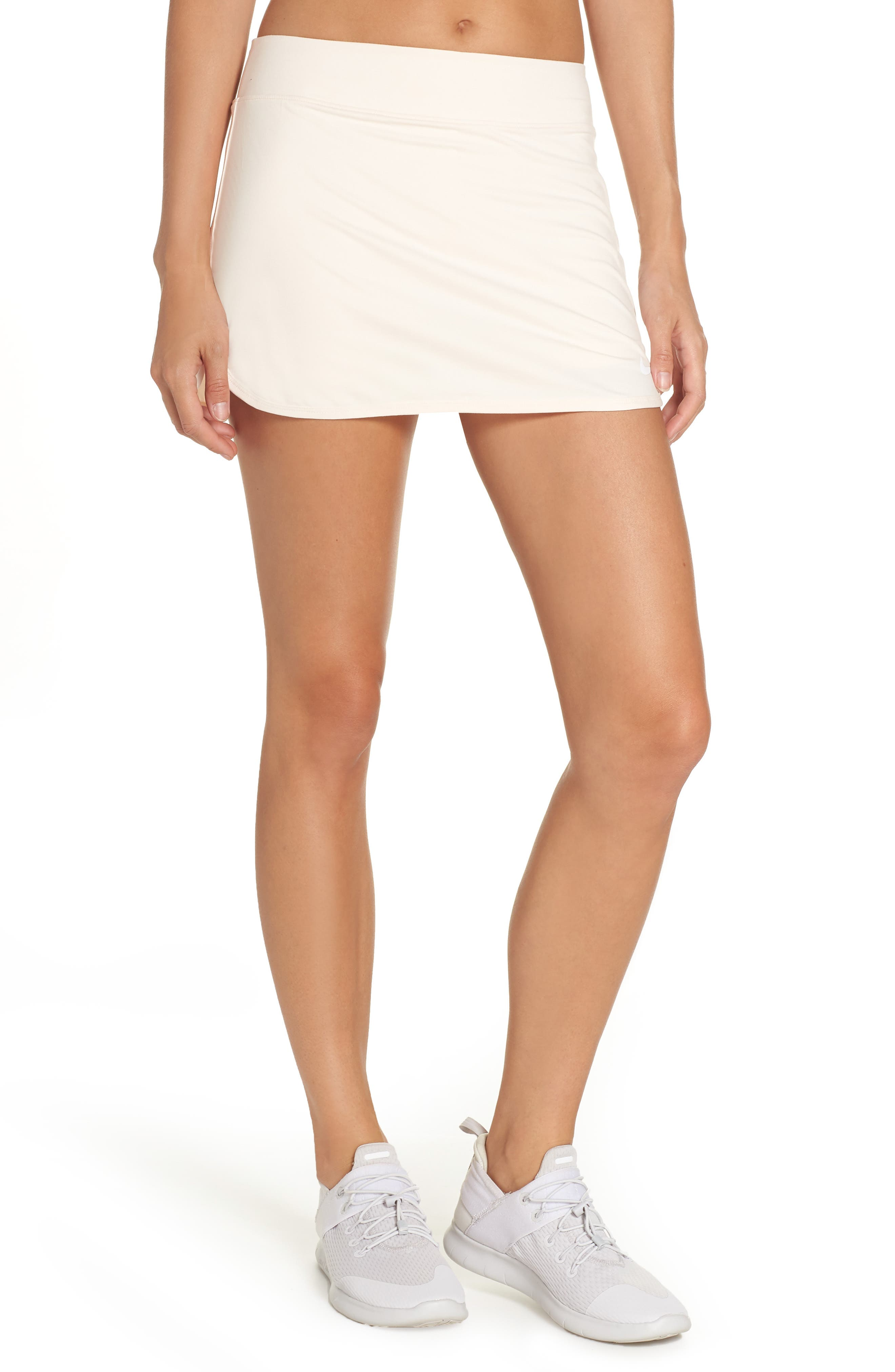 'Pure' Dri-FIT Tennis Skirt,                             Main thumbnail 1, color,                             GUAVA ICE/ WHITE