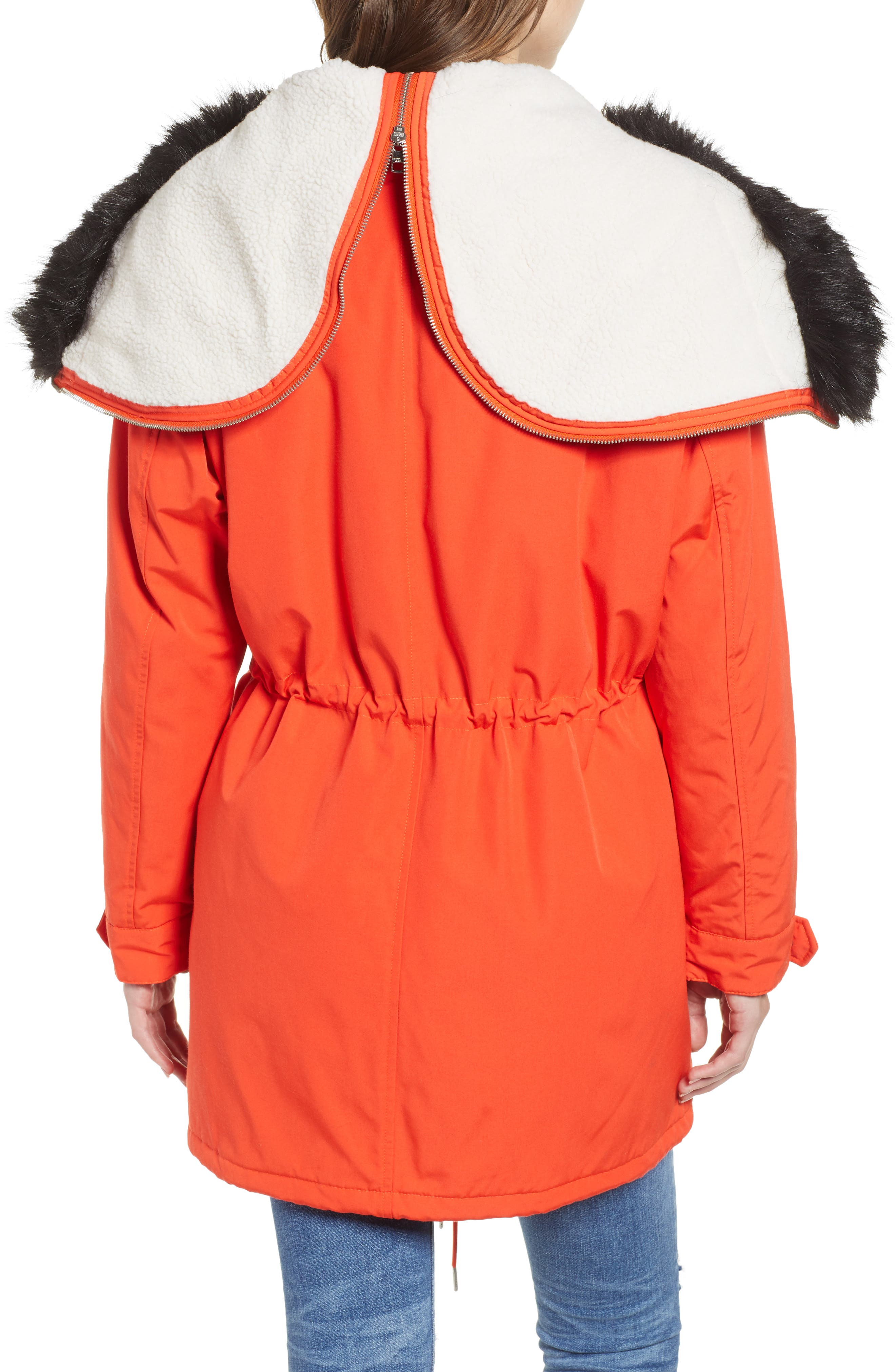 Faux Fur Trim Parka,                             Alternate thumbnail 2, color,                             600