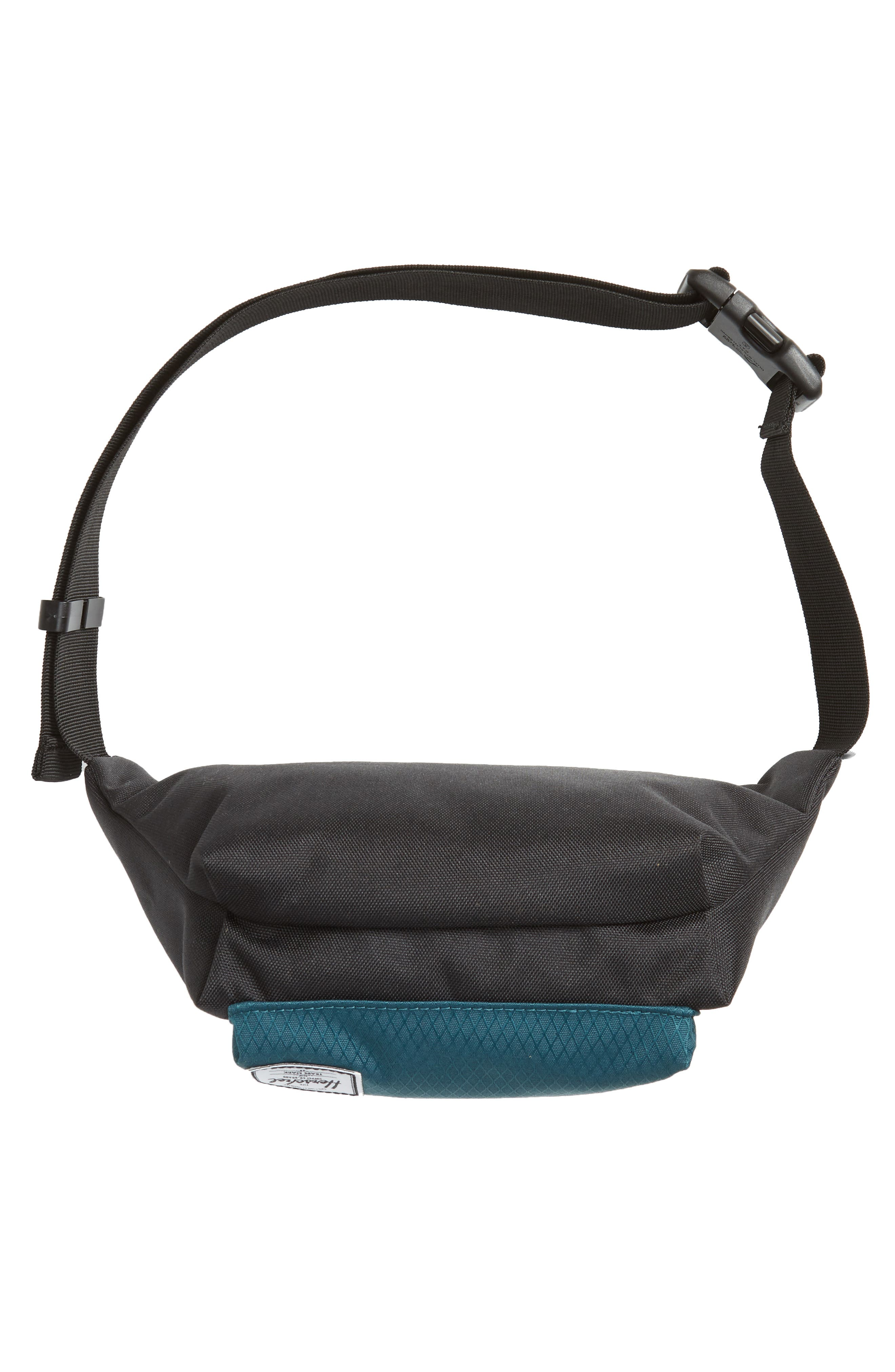 'Seventeen' Belt Bag,                             Alternate thumbnail 7, color,                             BLACK/ DEEP TEAL