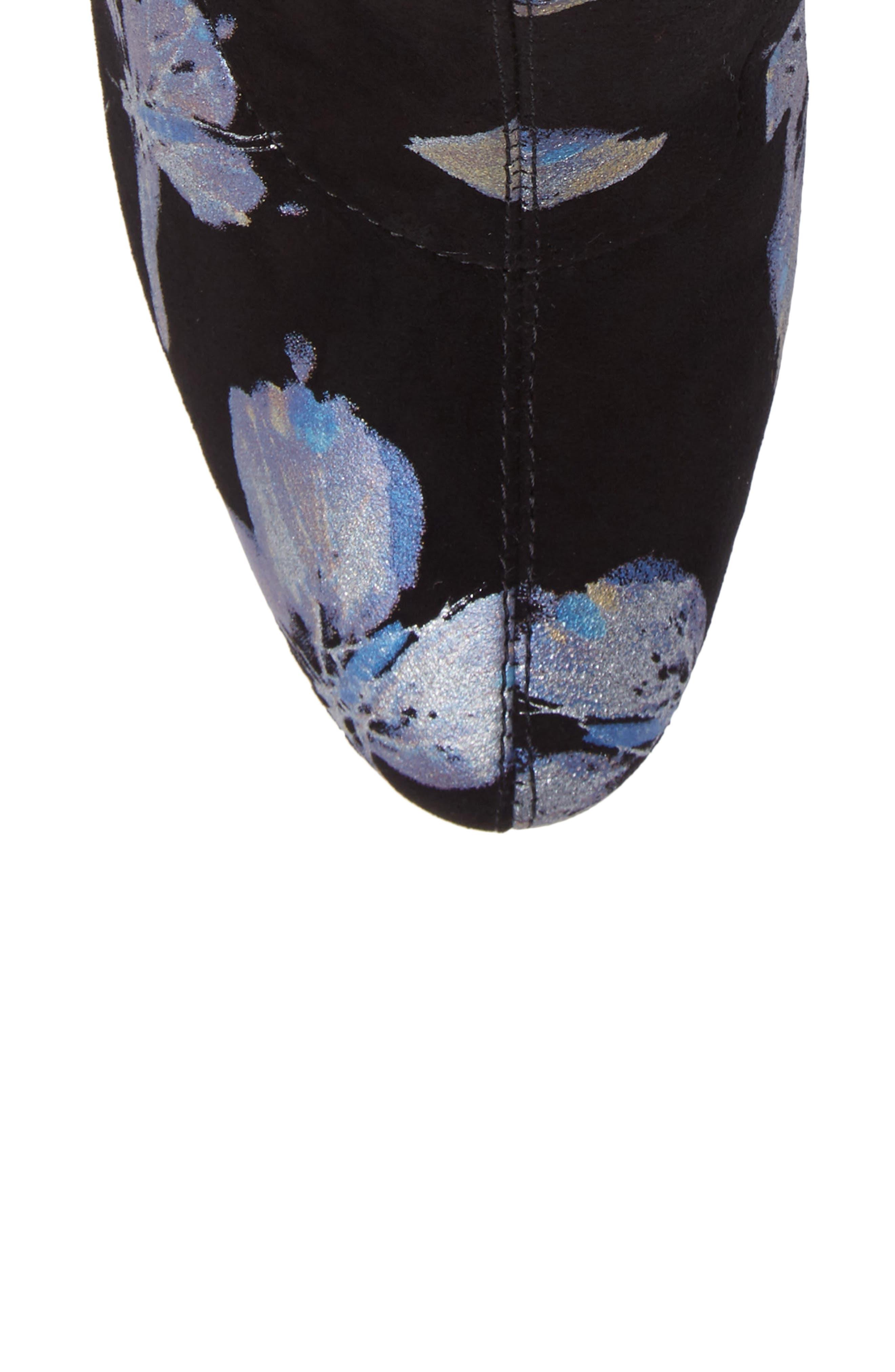 Fredda Butterfly Sock Bootie,                             Alternate thumbnail 5, color,                             001