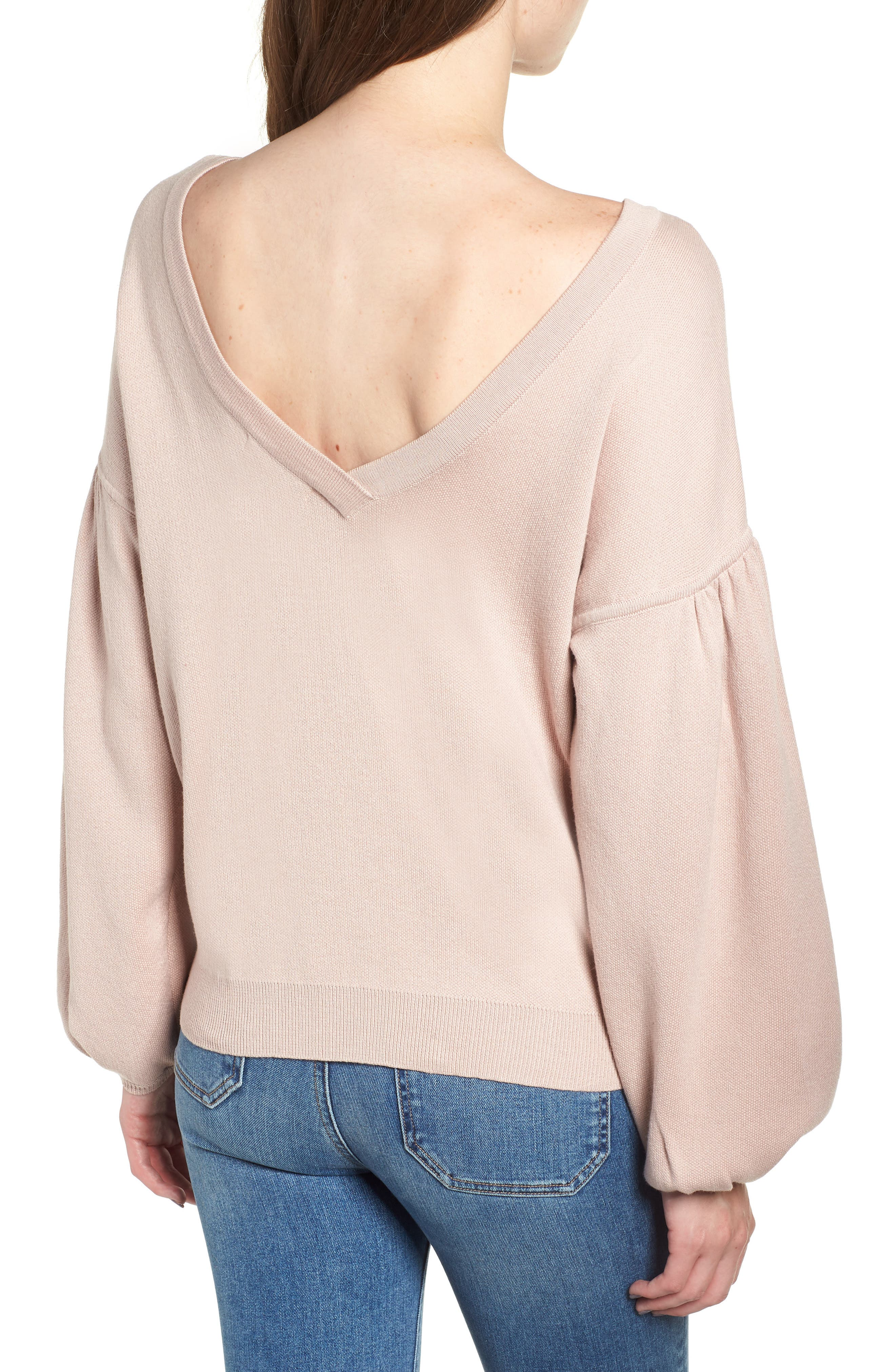 Bishop + Young Hailey Balloon Sleeve Sweater,                             Alternate thumbnail 2, color,                             QUARTZ