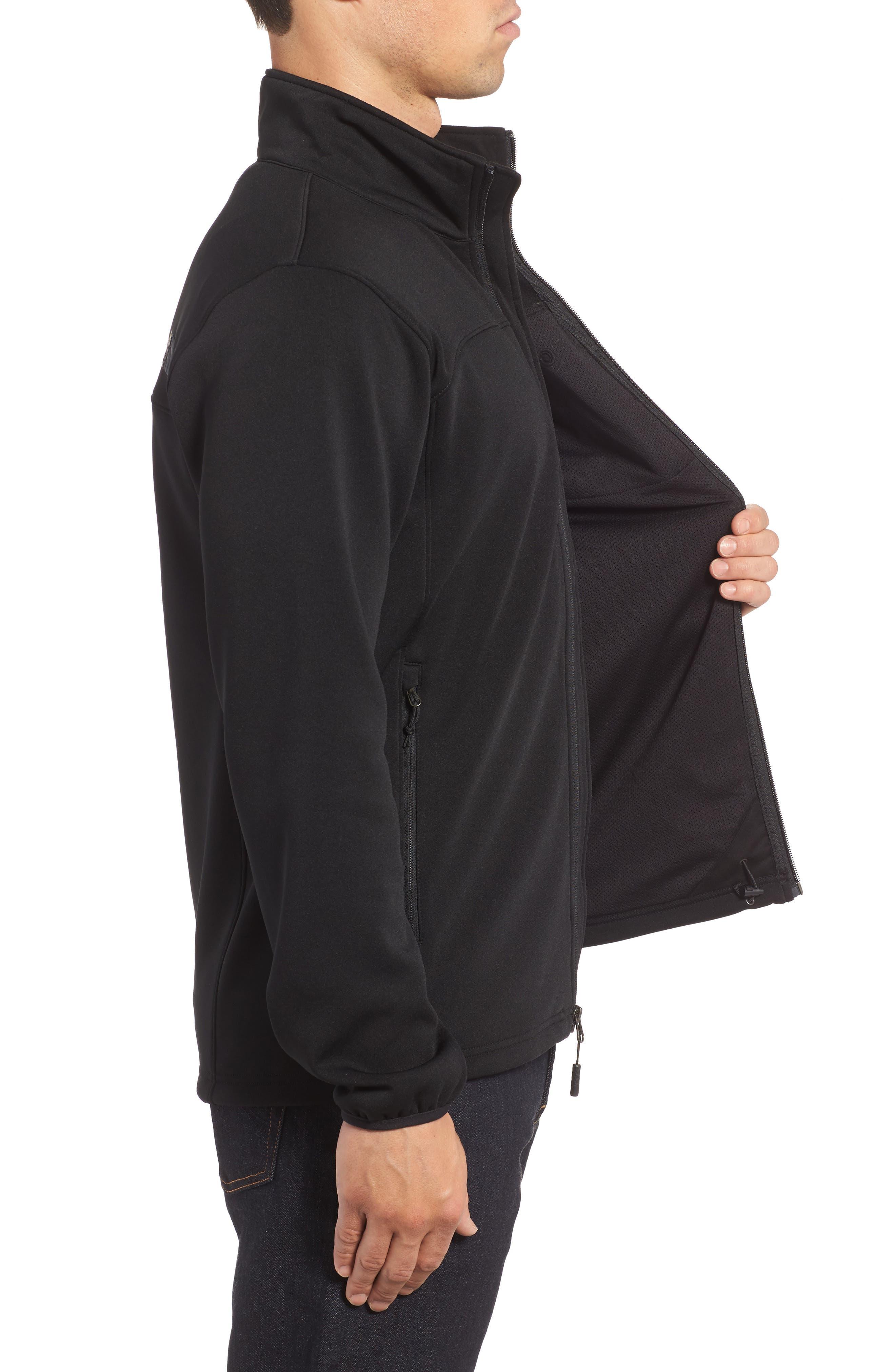 'Momentum' Fleece Jacket,                             Alternate thumbnail 3, color,                             TNF BLACK