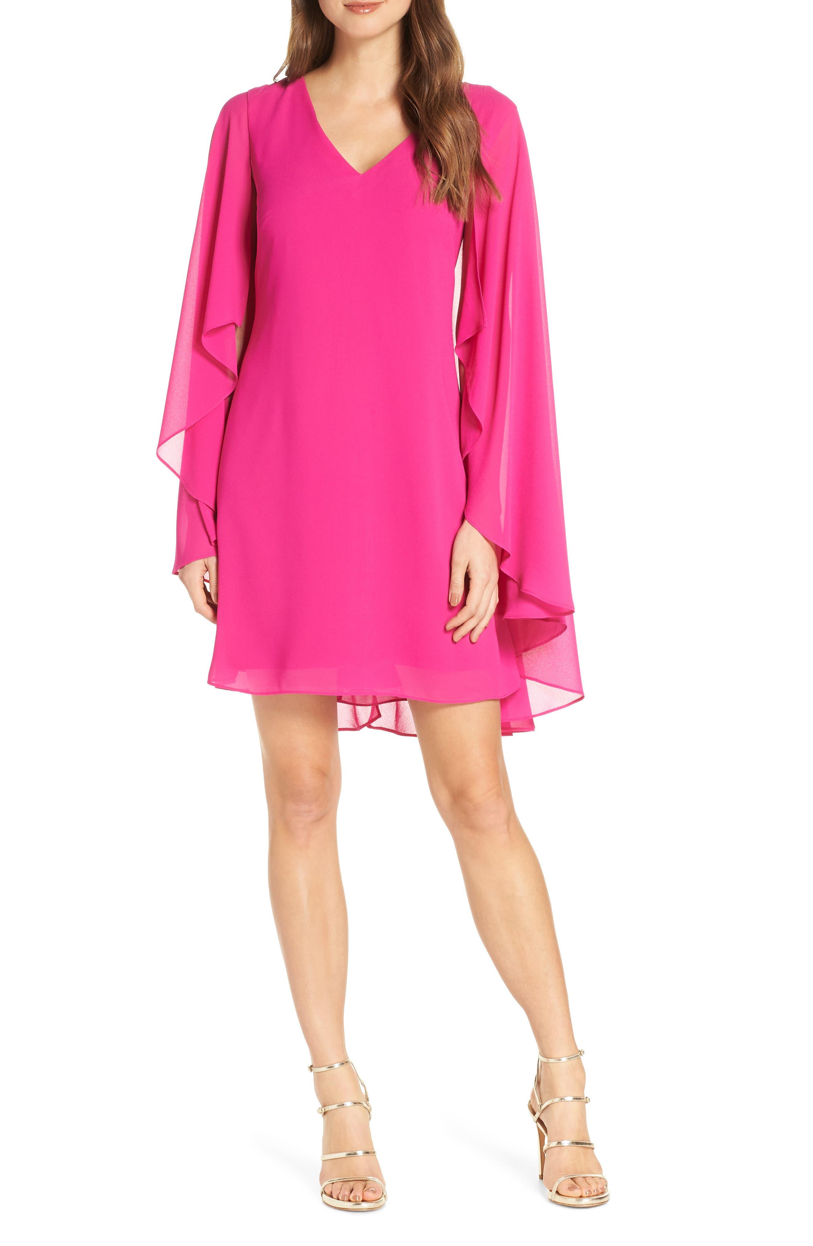 Petite Vince Camuto Cape Back Shift Dress, Pink