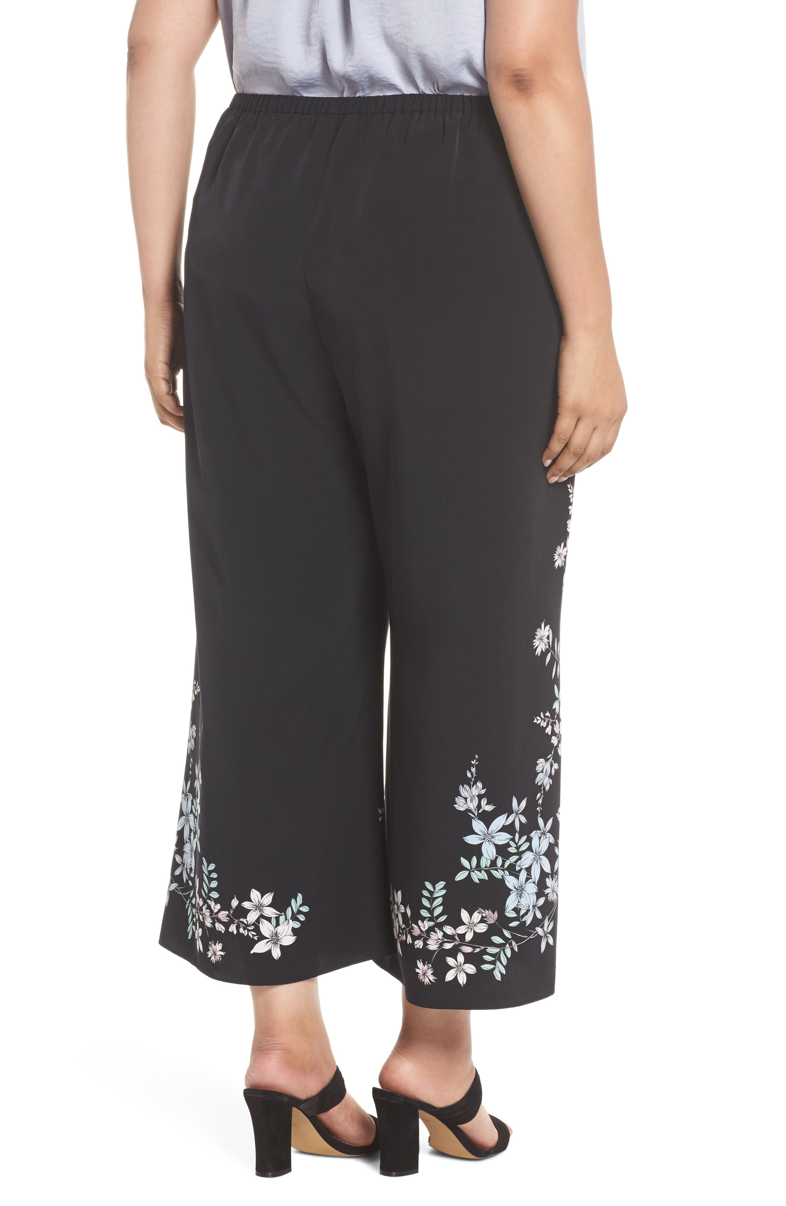 Botanical Wide Leg Pants,                             Alternate thumbnail 2, color,                             001