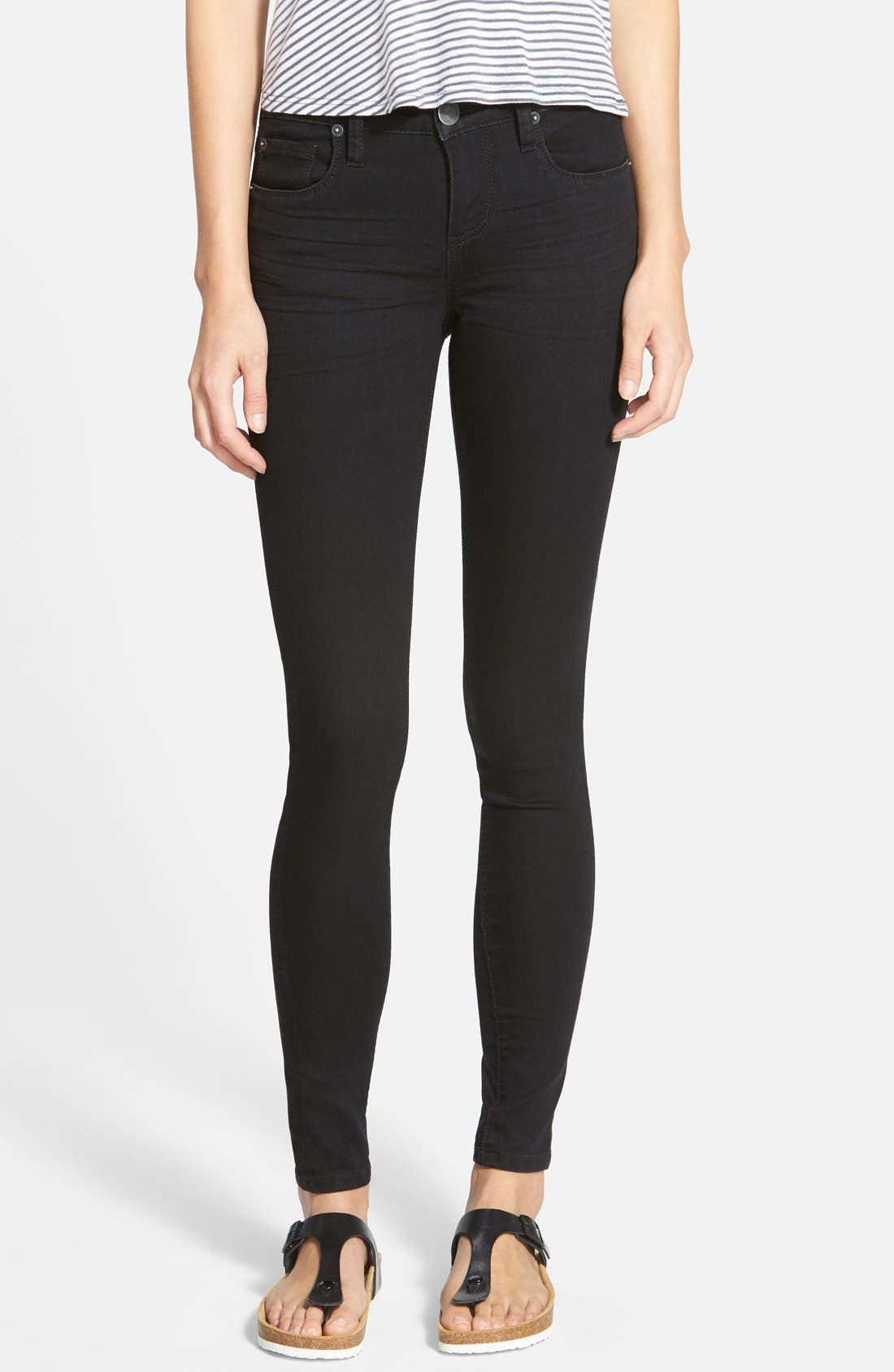 'Piper' Skinny Jeans,                             Main thumbnail 1, color,                             001