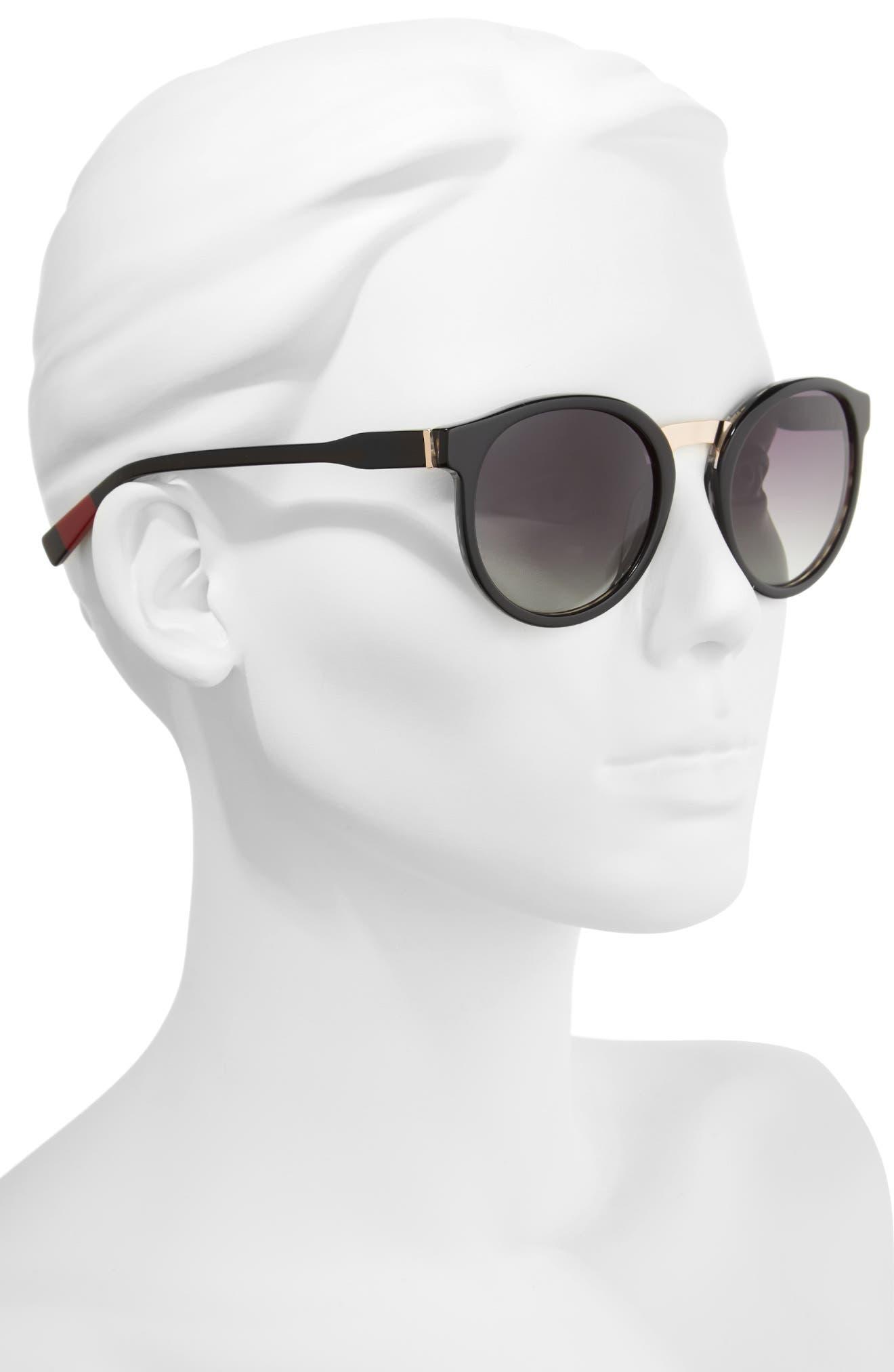 53mm Round Sunglasses,                             Alternate thumbnail 2, color,                             001