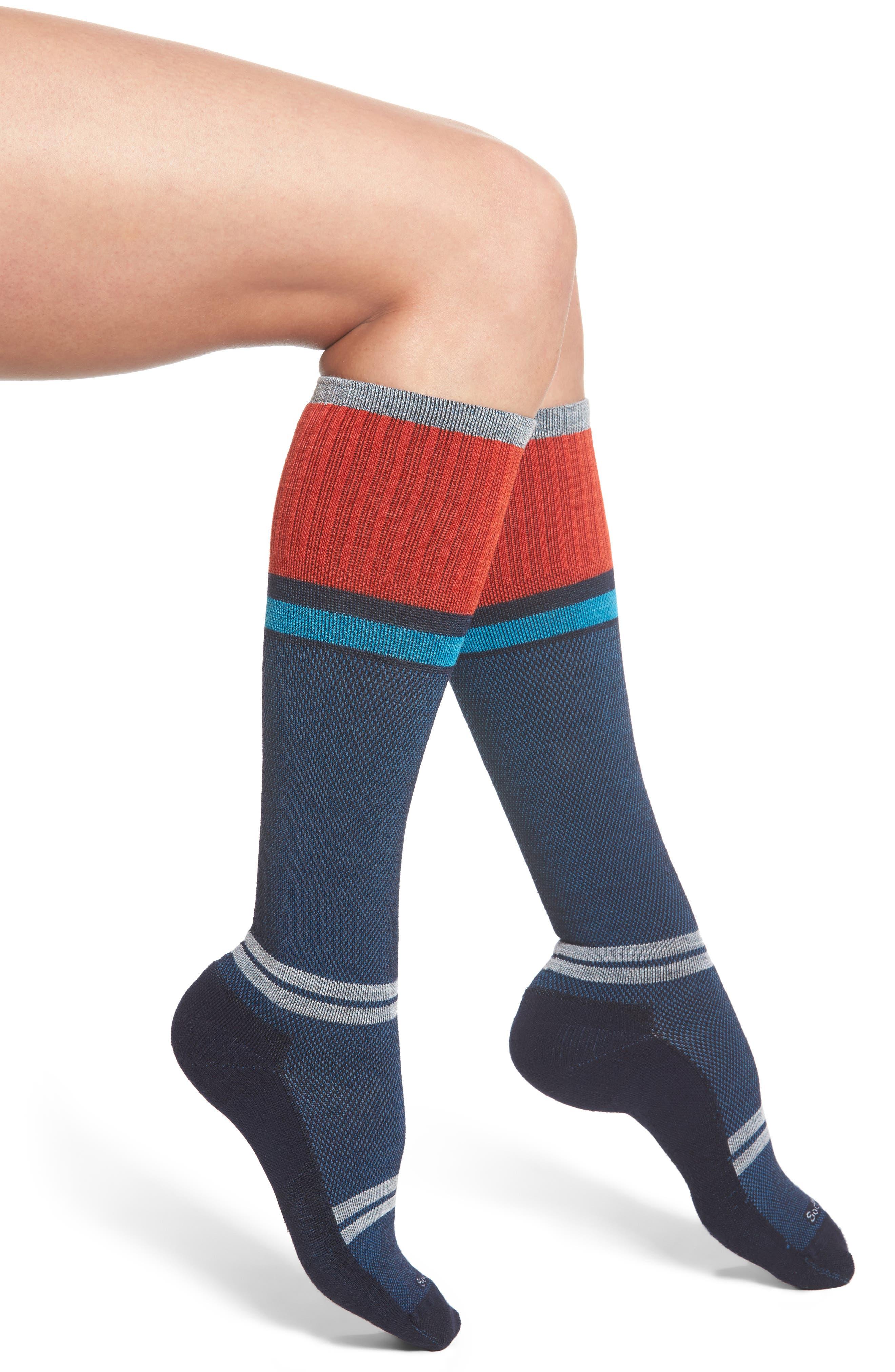 'Sport Flirt' Compression Knee Socks,                             Main thumbnail 2, color,