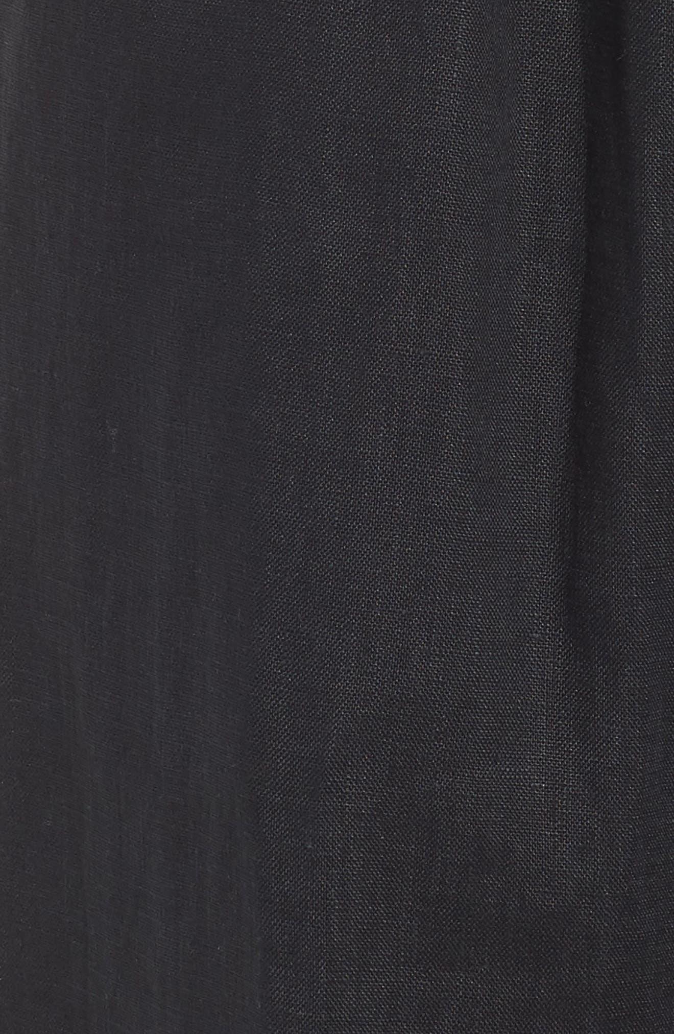 Varadero High Waist Linen Pants,                             Alternate thumbnail 6, color,                             001