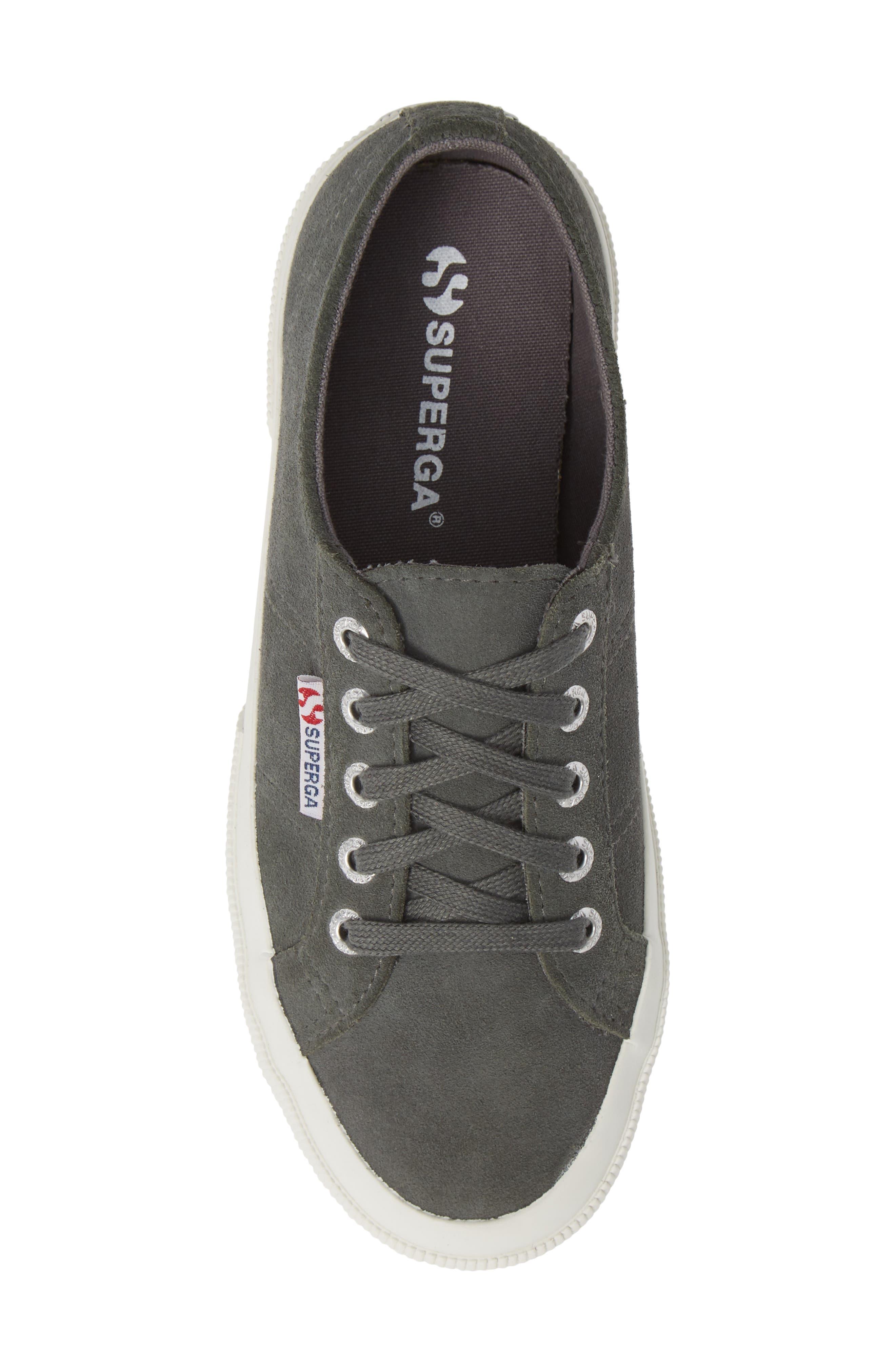 2750 Suecotw Low Top Sneaker,                             Alternate thumbnail 5, color,                             DARK GREY SUEDE