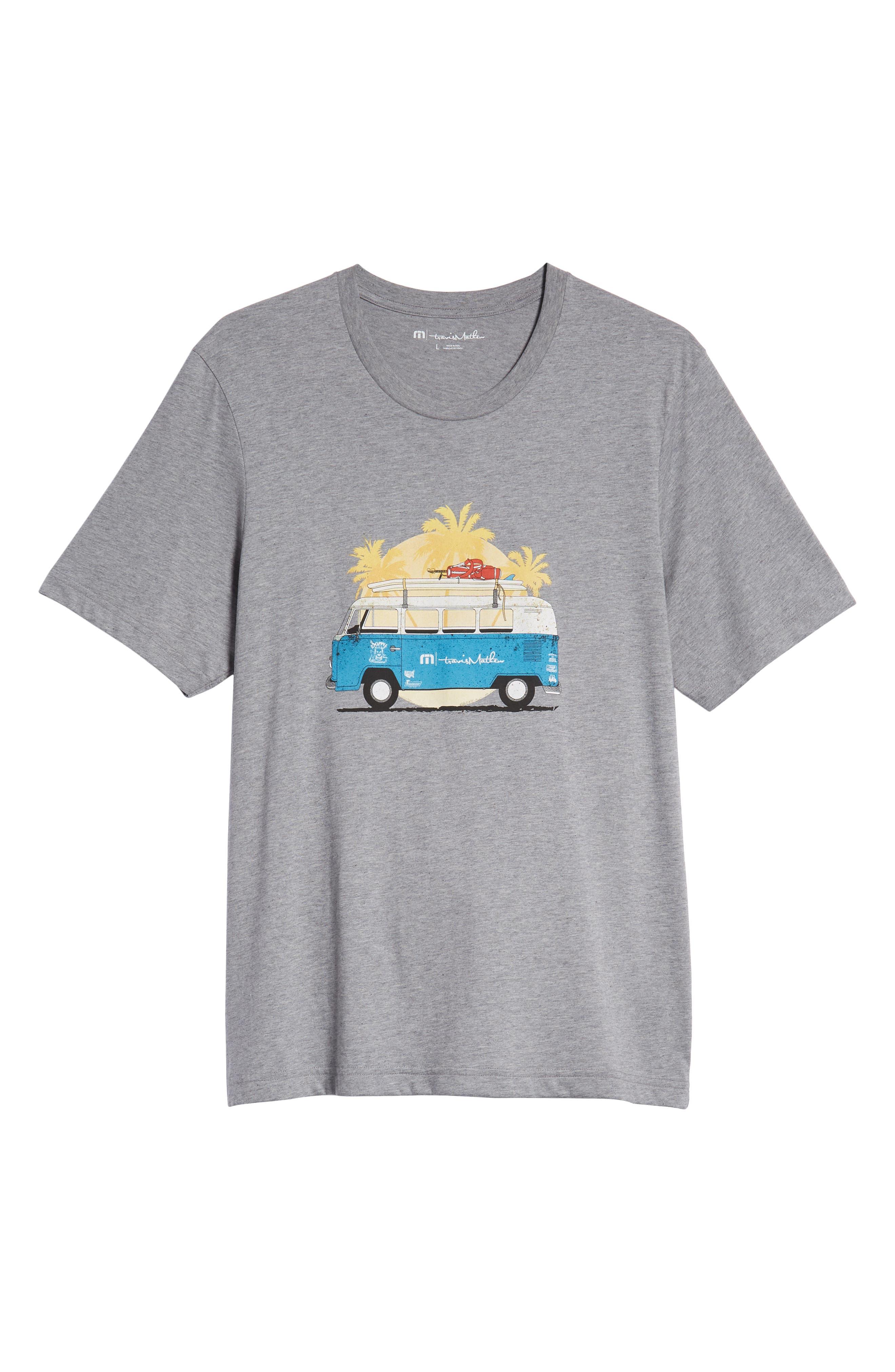 Shibby Crewneck T-Shirt,                             Alternate thumbnail 6, color,                             HEATHER GREY