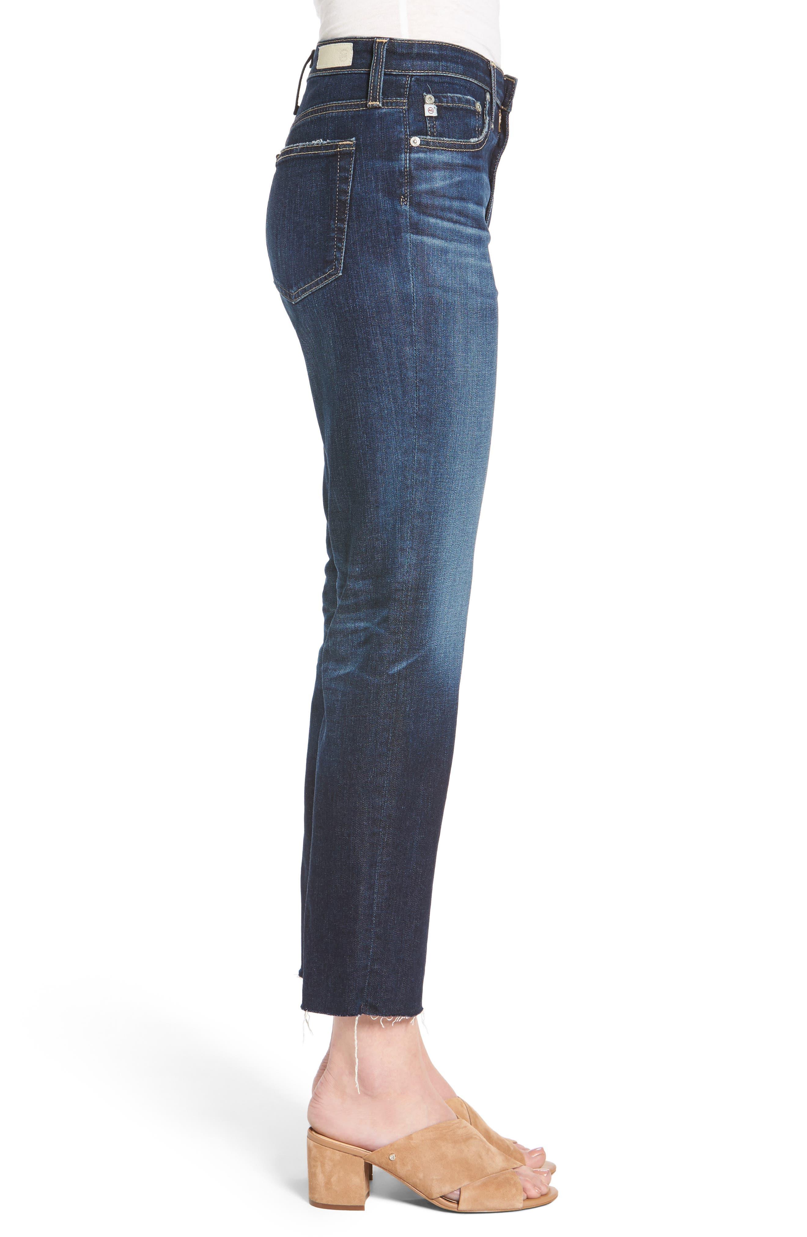 The Isabelle Crop Straight Leg Jeans,                             Alternate thumbnail 3, color,                             466