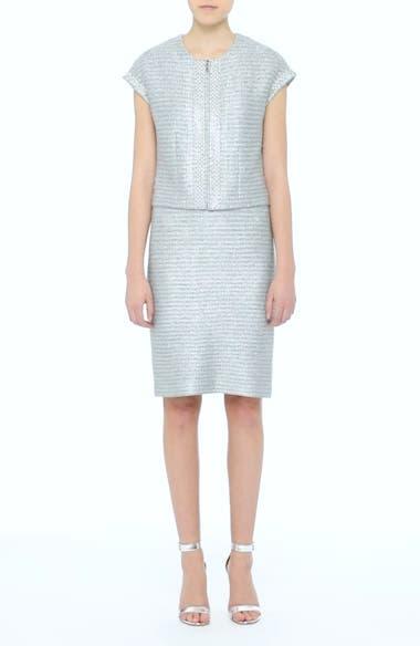 Gleam Metallic Knit Sheath Dress, video thumbnail