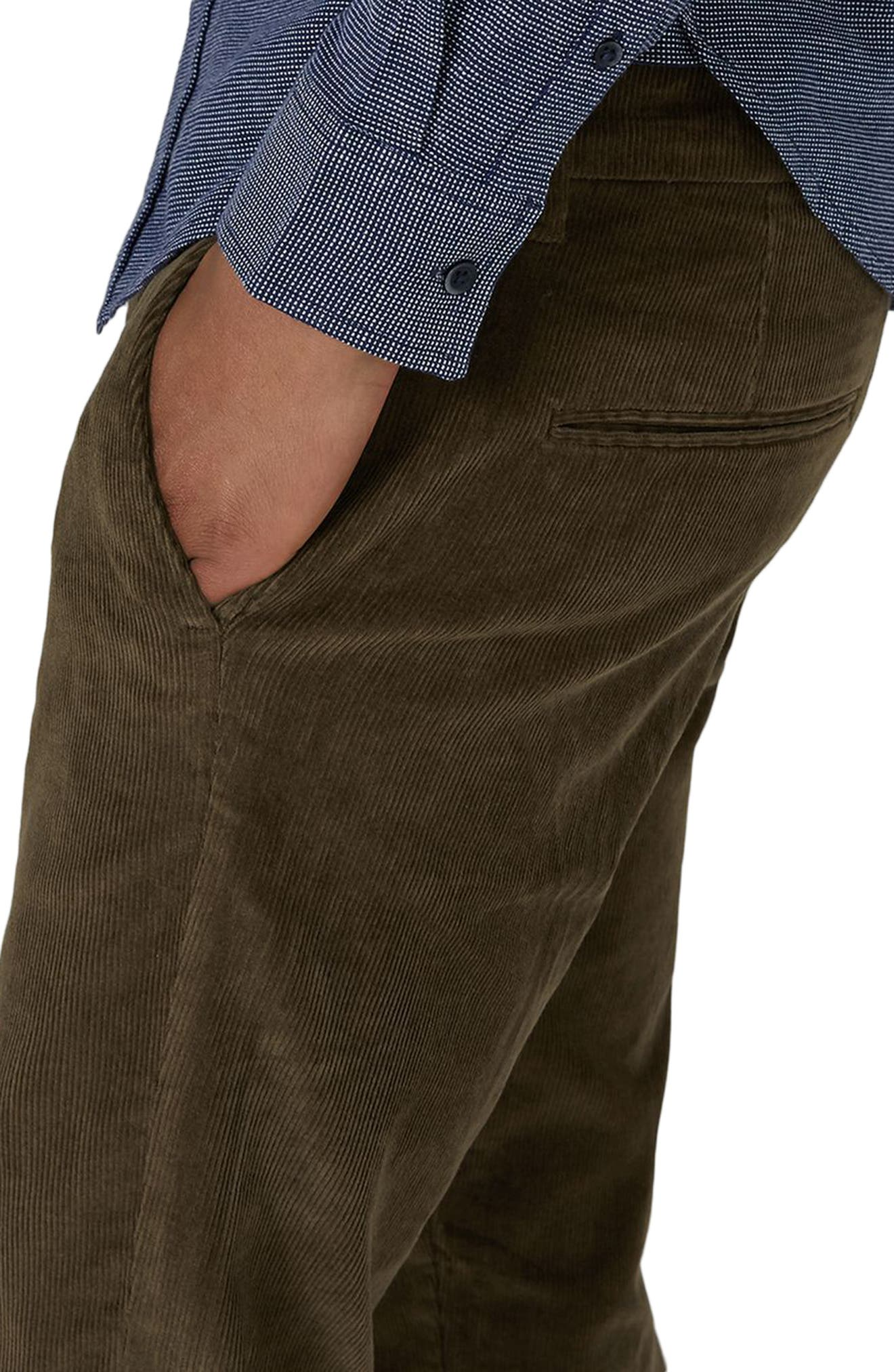 Skinny Fit Corduroy Trousers,                             Alternate thumbnail 5, color,