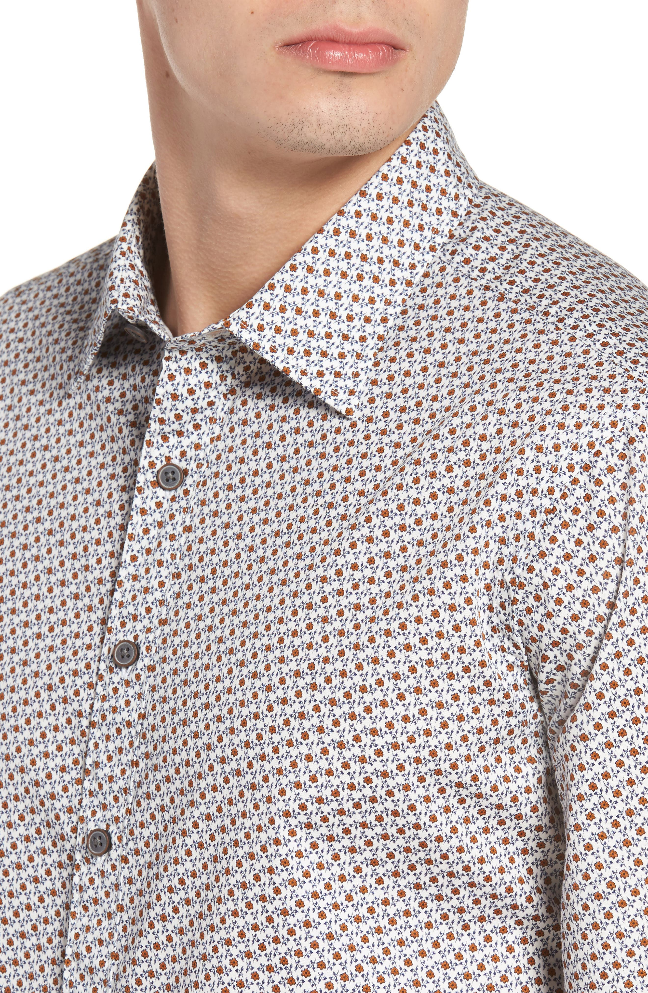 Regular Fit Cascade Sport Shirt,                             Alternate thumbnail 4, color,                             815