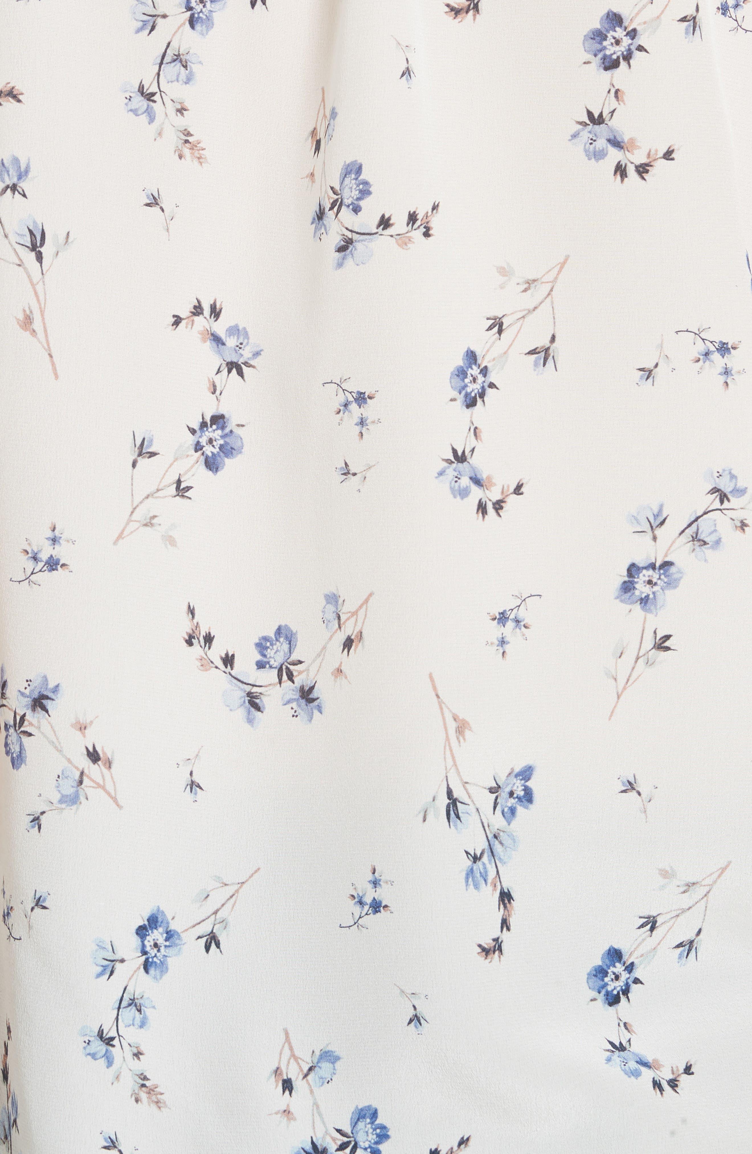 Francine Floral Silk Top,                             Alternate thumbnail 5, color,                             103