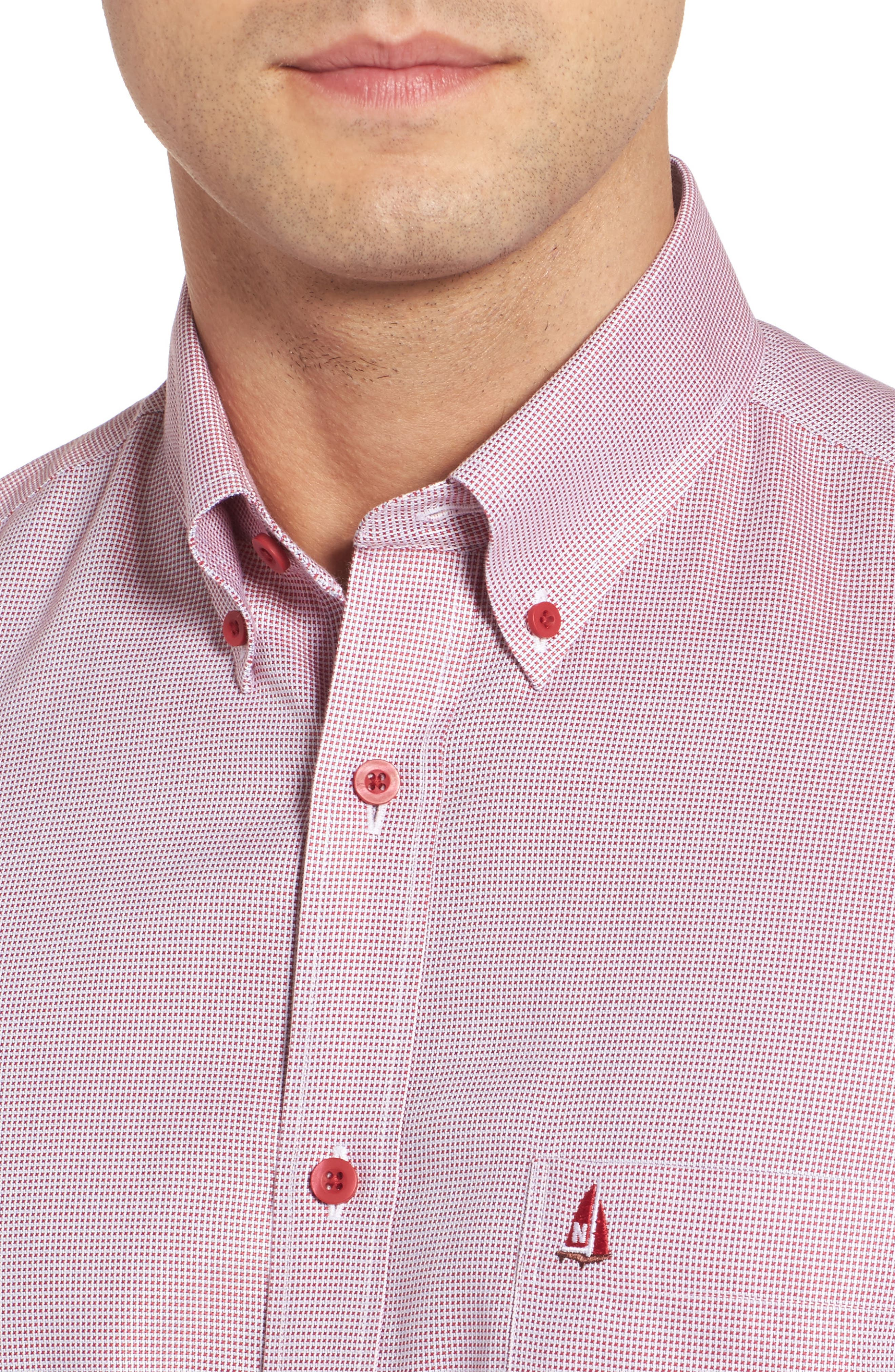 'Classic' Smartcare<sup>™</sup> Regular Fit Short Sleeve Cotton Sport Shirt,                             Alternate thumbnail 92, color,