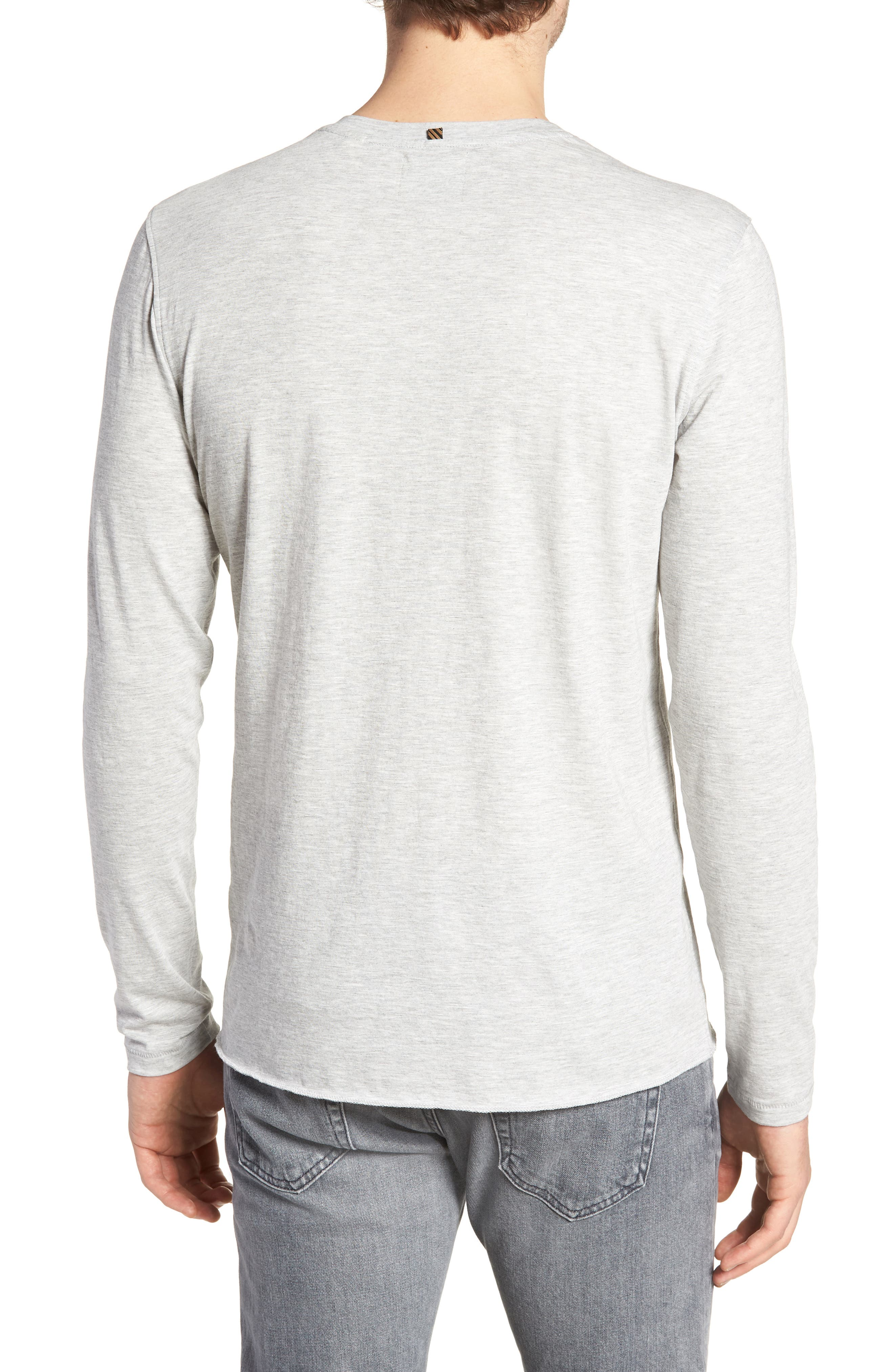 Hartford Slim Fit Henley,                             Alternate thumbnail 2, color,                             GREY