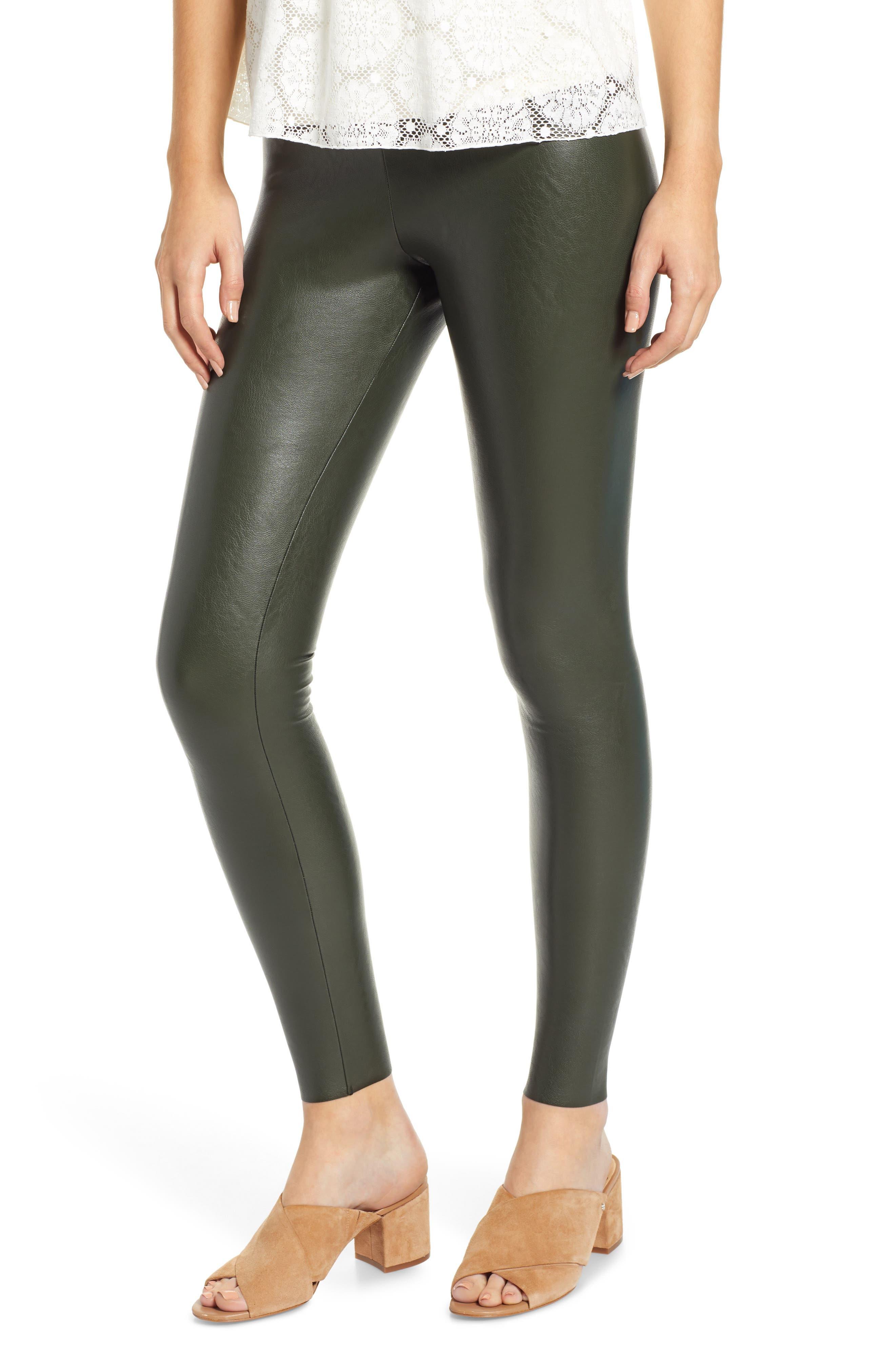 Commando Perfect Control Faux Leather Leggings, Green