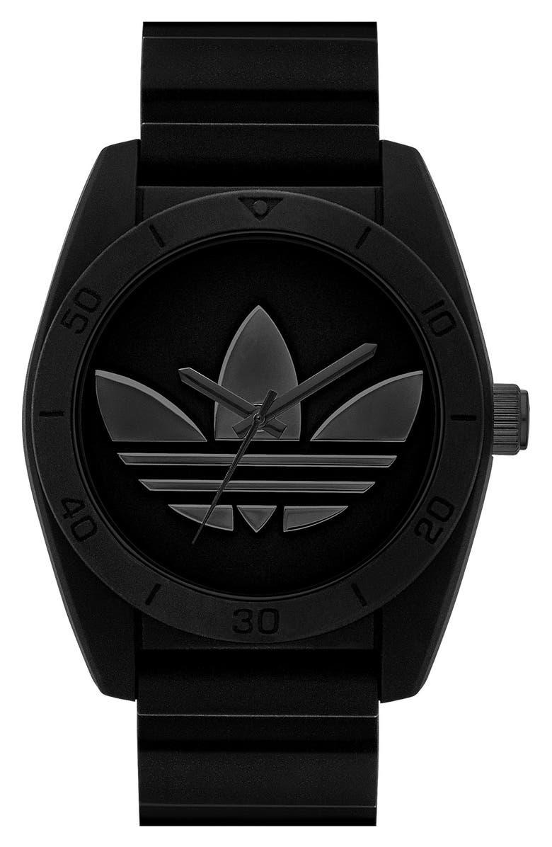 more photos a5f3e 993f1 ADIDAS ORIGINALS  Santiago  Silicone Strap Watch, 42mm, Main, color, ...