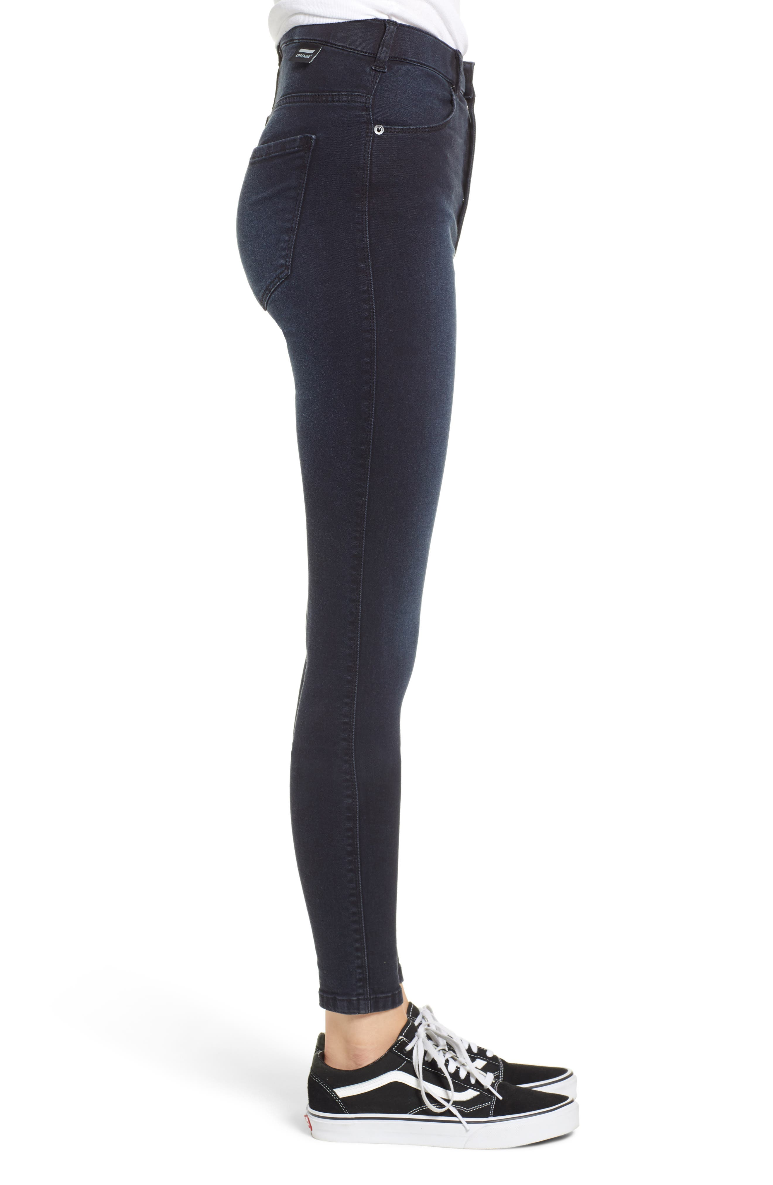 Moxy Skinny Jeans,                             Alternate thumbnail 3, color,                             PITCH DARK BLUE