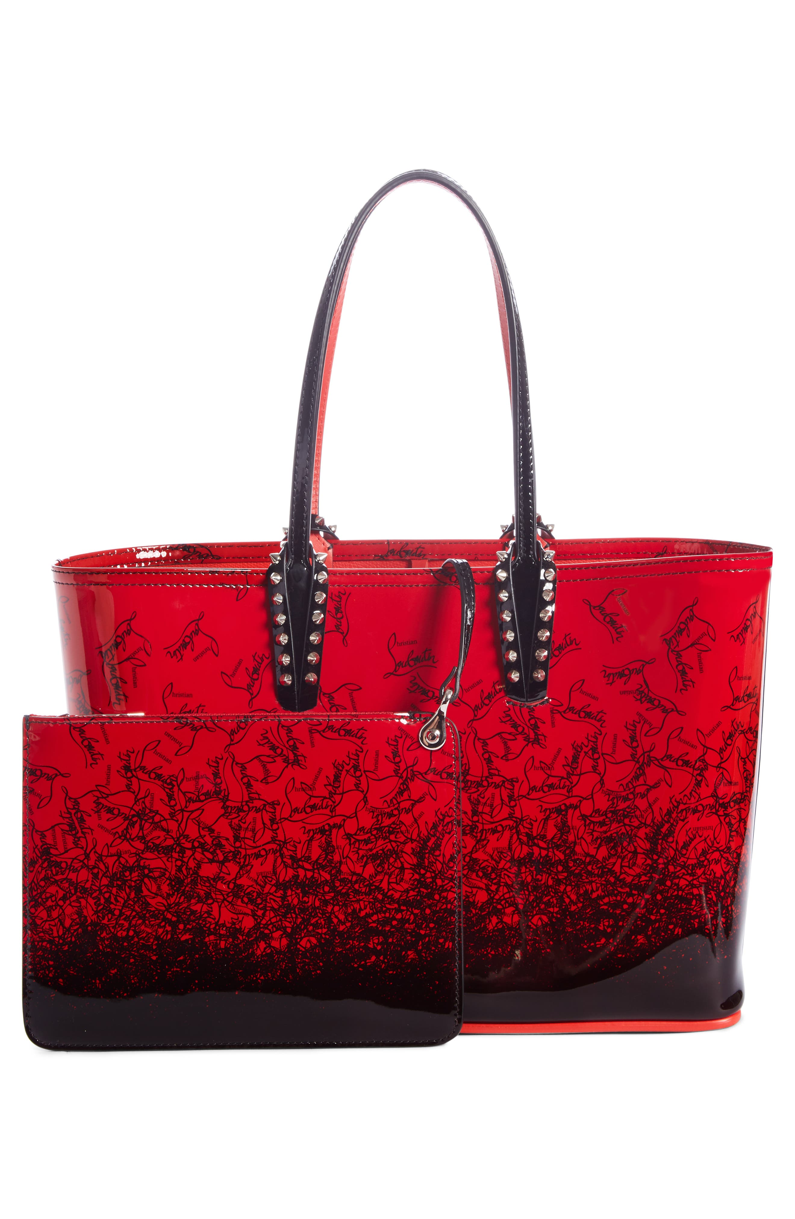 CHRISTIAN LOUBOUTIN,                             Cabata Dégradé Patent Leather Tote,                             Alternate thumbnail 2, color,                             600