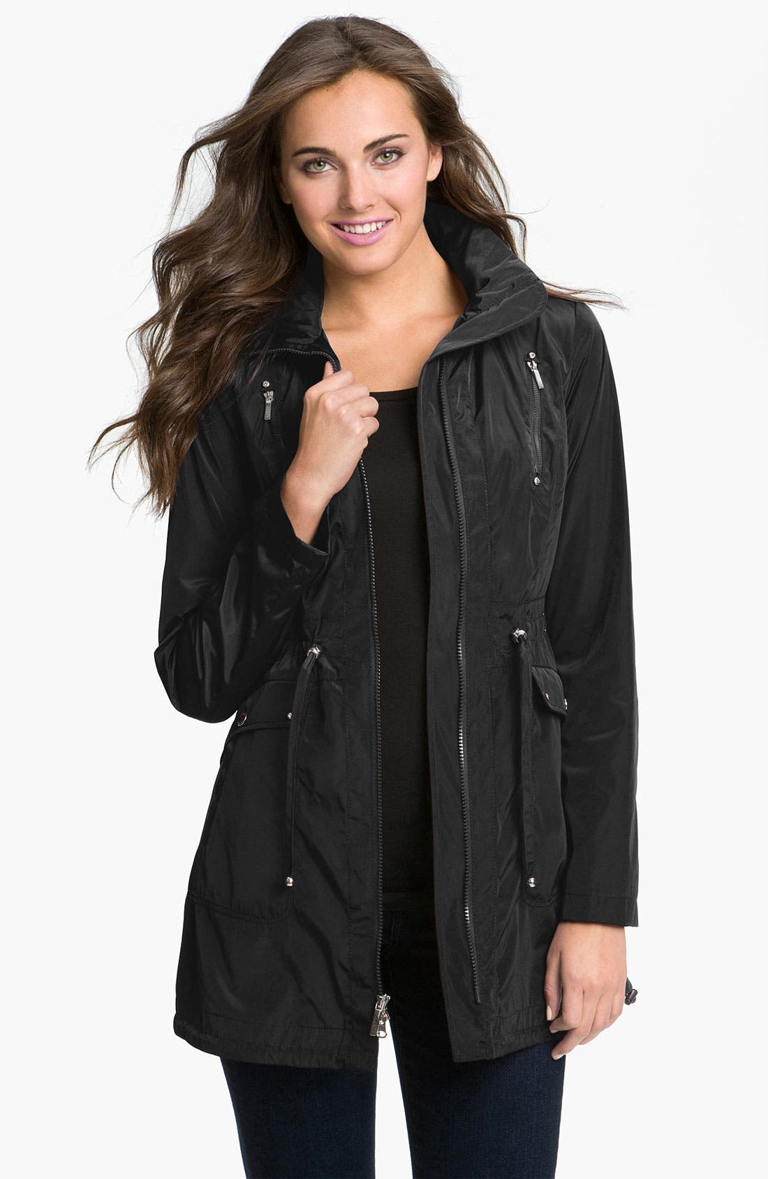 Packable Hooded Anorak,                         Main,                         color, 001