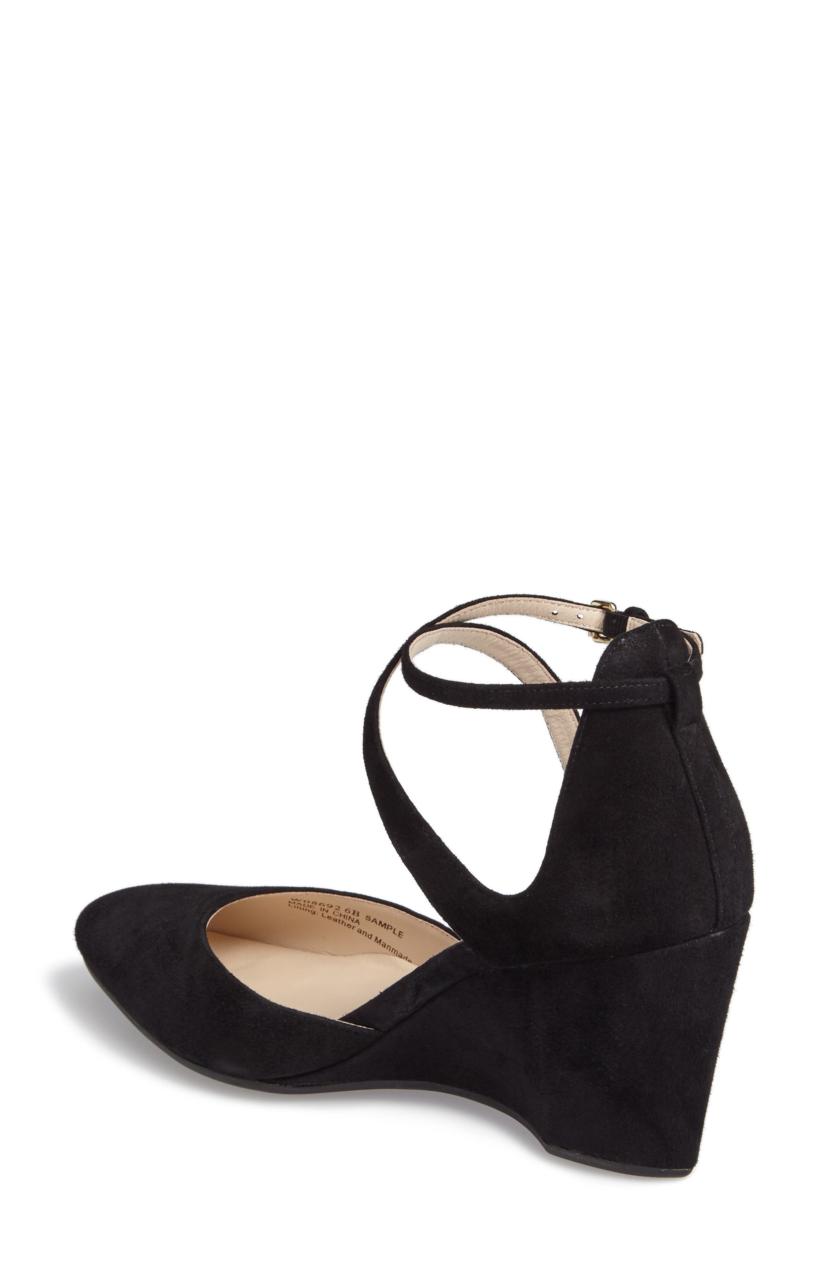 Lacey Ankle Strap Wedge Pump,                             Alternate thumbnail 2, color,                             001
