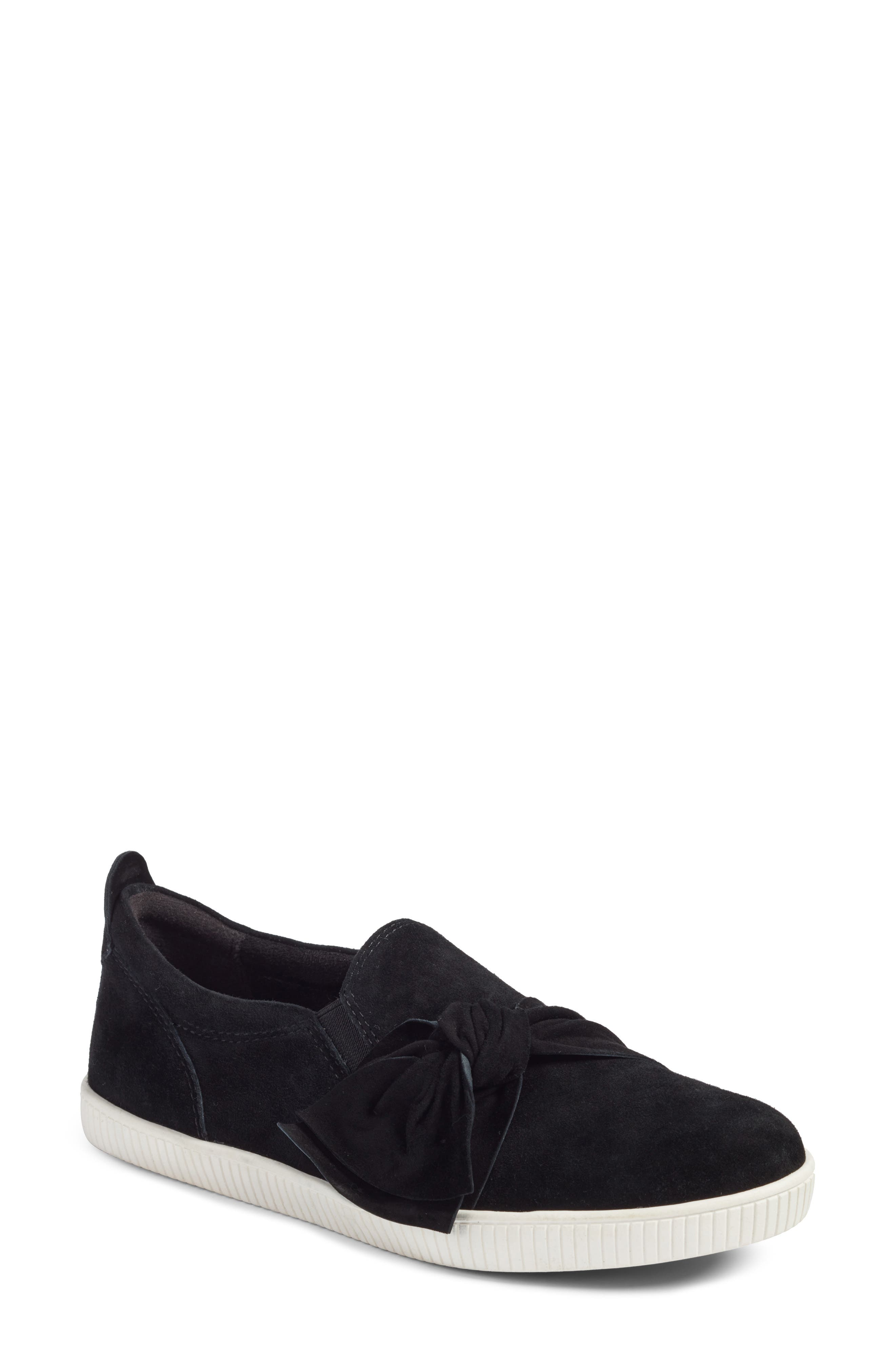 Date Sneaker,                         Main,                         color, BLACK SUEDE