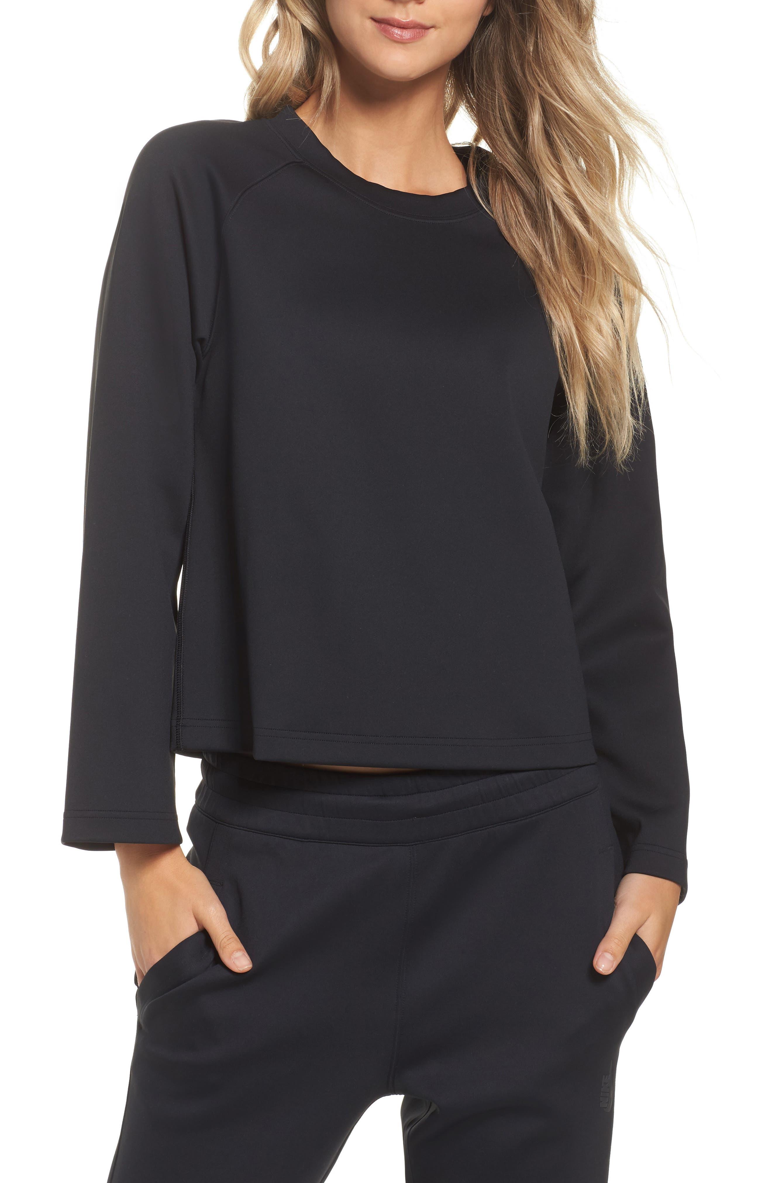 NikeLab Essentials Women's Fleece Top,                             Main thumbnail 1, color,                             010