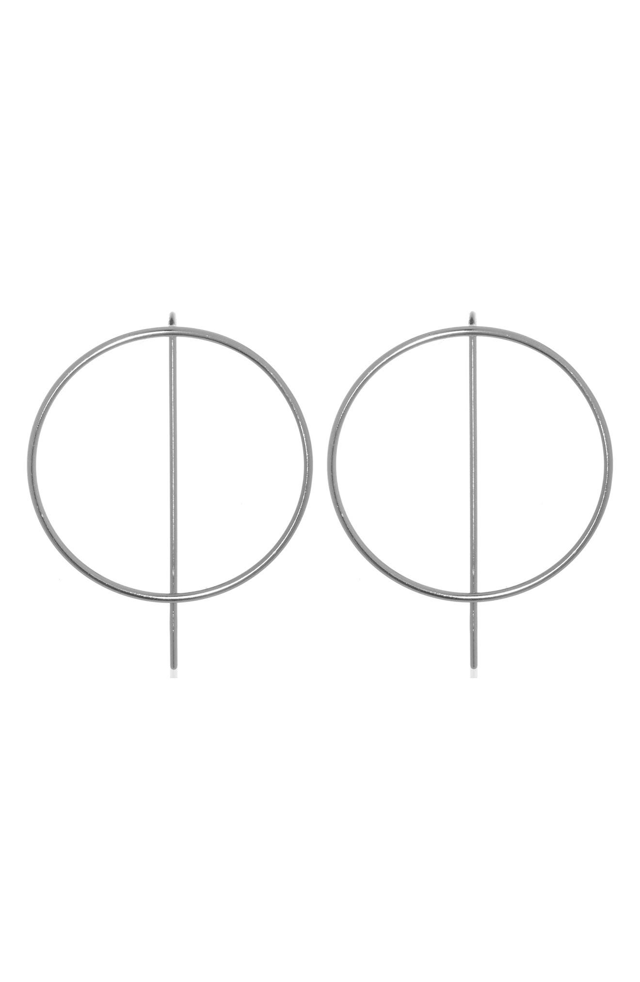 Pin Circle Earrings by Anuja Tolia