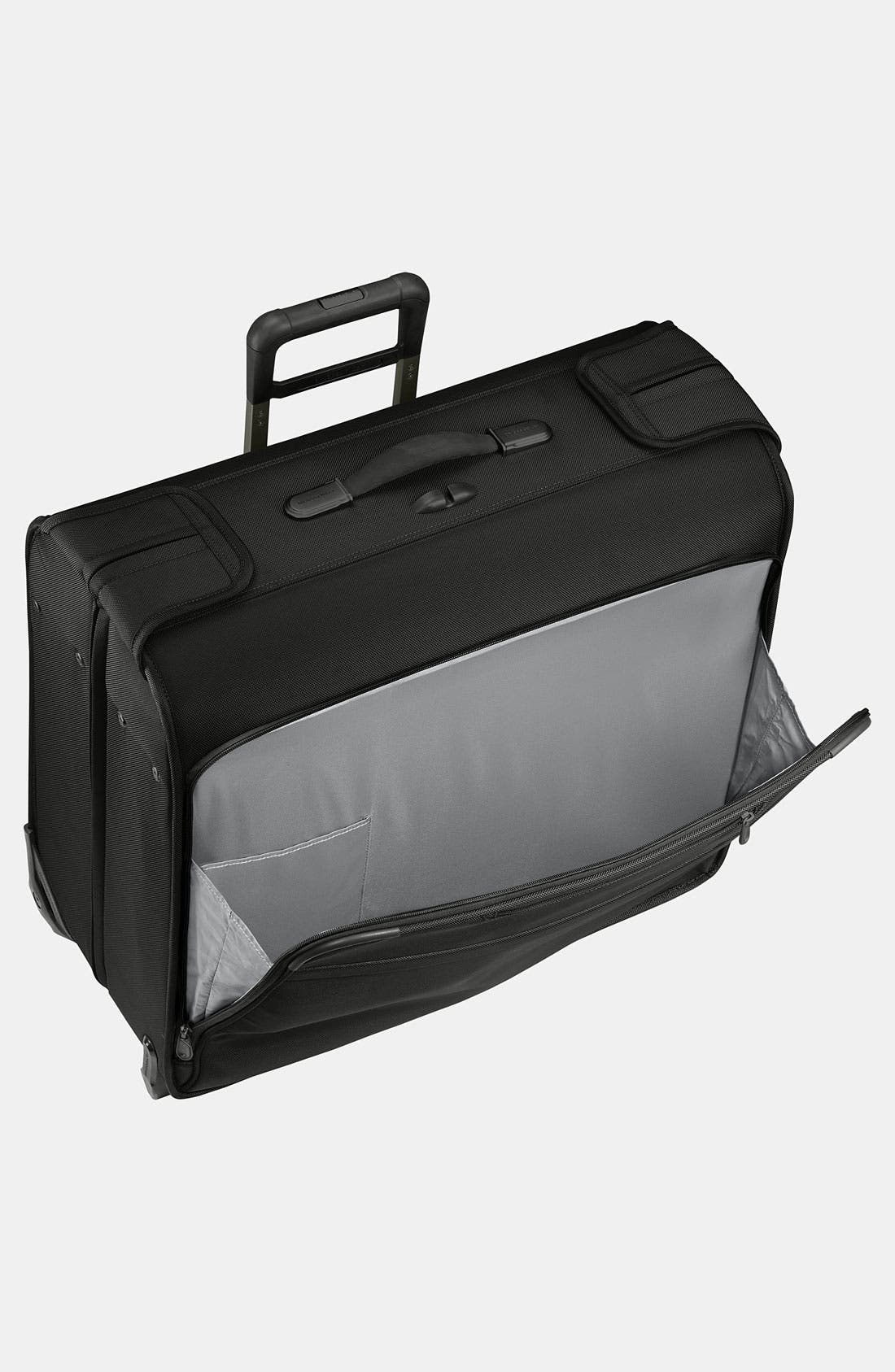 'Baseline' Rolling Carry-On Garment Bag,                             Alternate thumbnail 2, color,                             BLACK